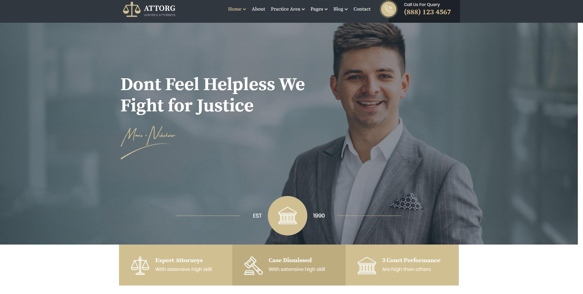 Attorg - 法律律师事务所网站WordPress主题
