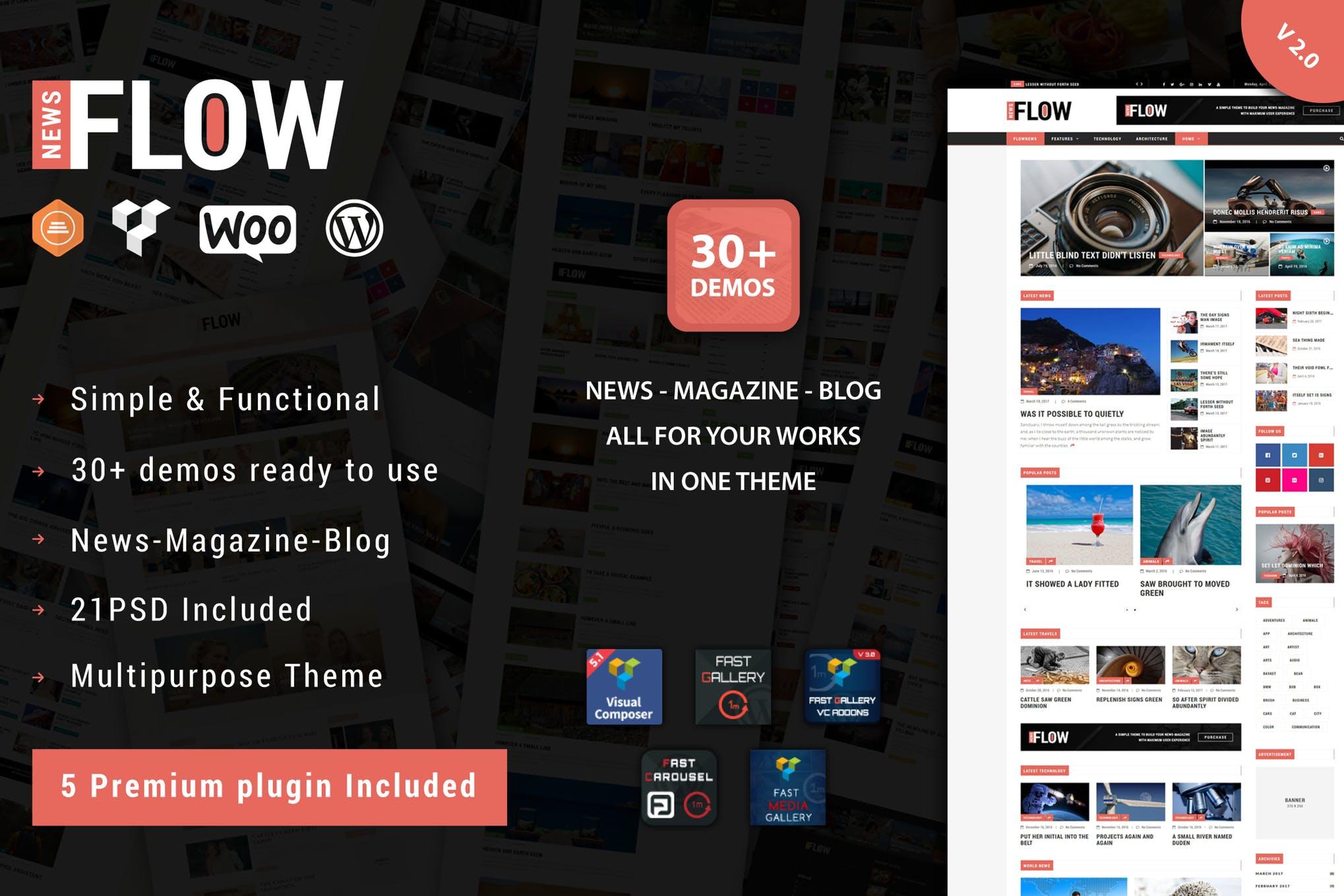 Flow News - 杂志博客WordPress主题模板