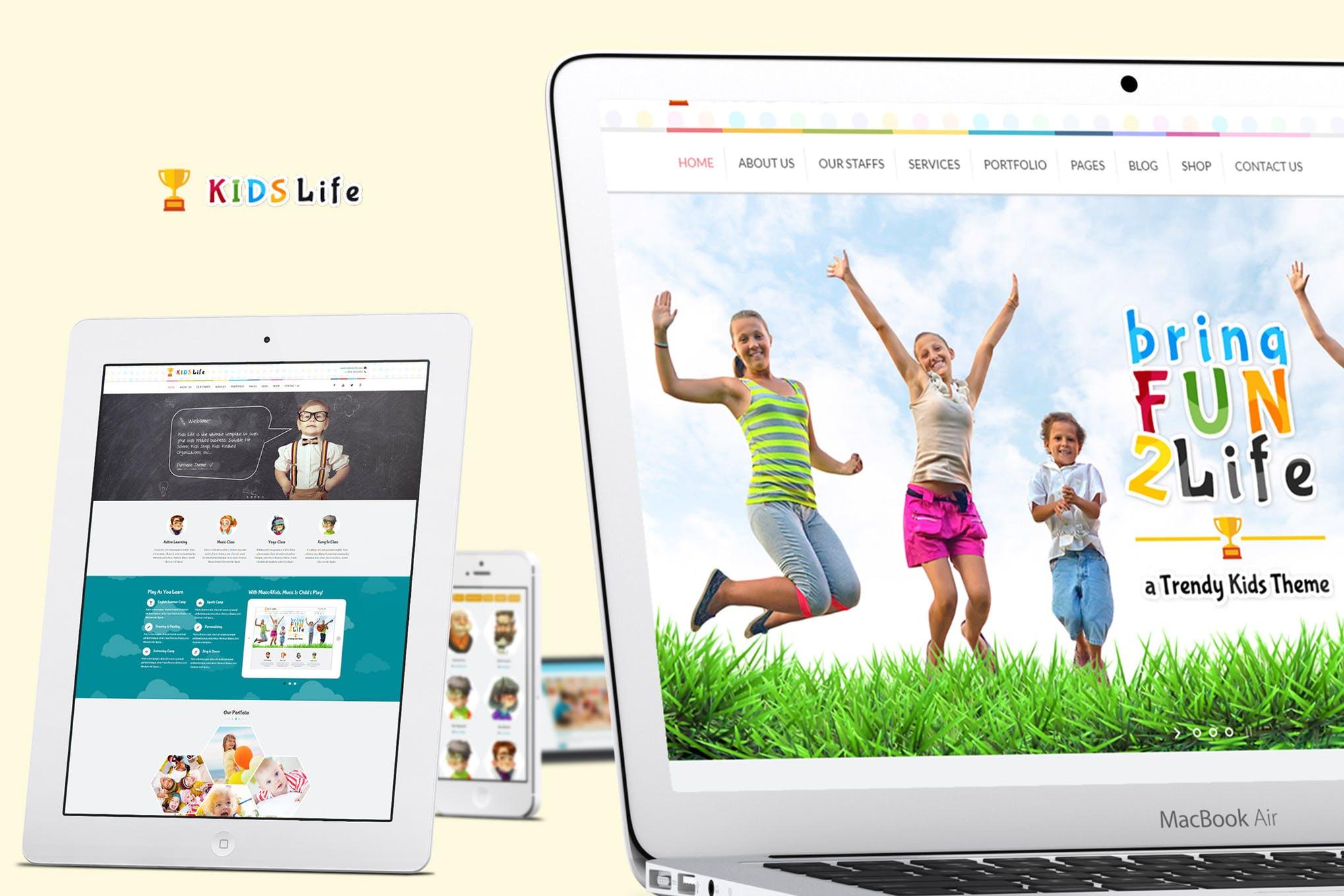 Kids Life - 幼儿园学校培训HTML5网站模板