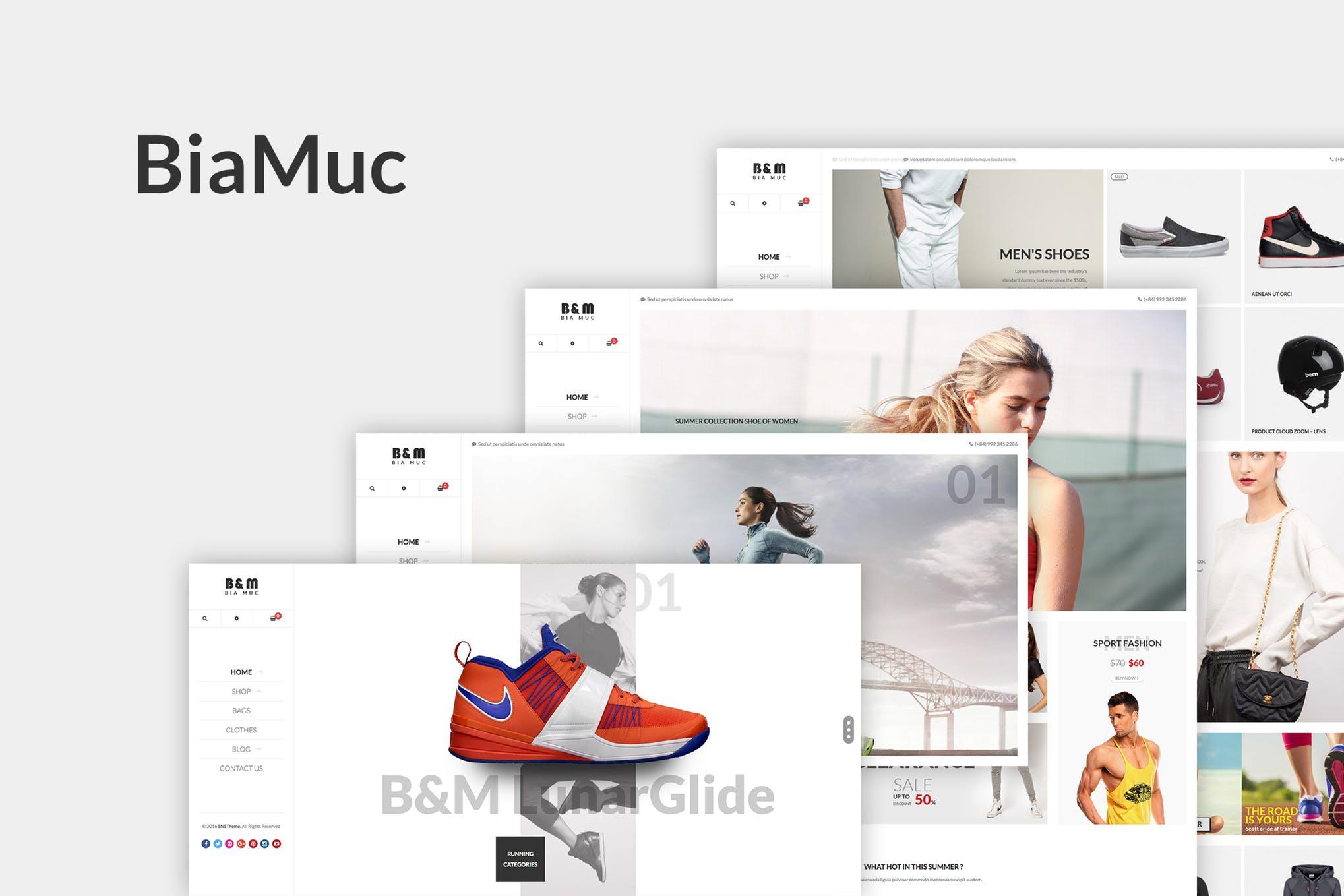 SNS BiaMuc - 健身运动商城WordPress主题模板
