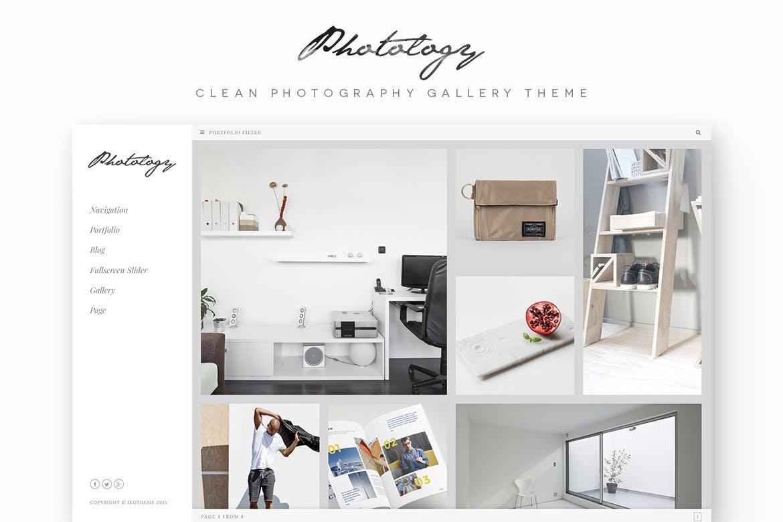 Photology - 摄影画廊相片WordPress主题模板
