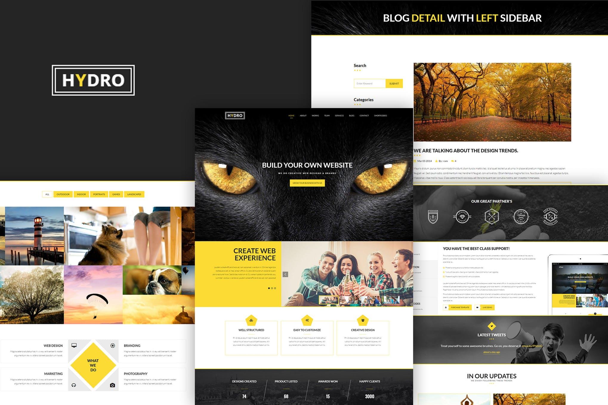 HYDRO - 多用途单页HTML5模板网页