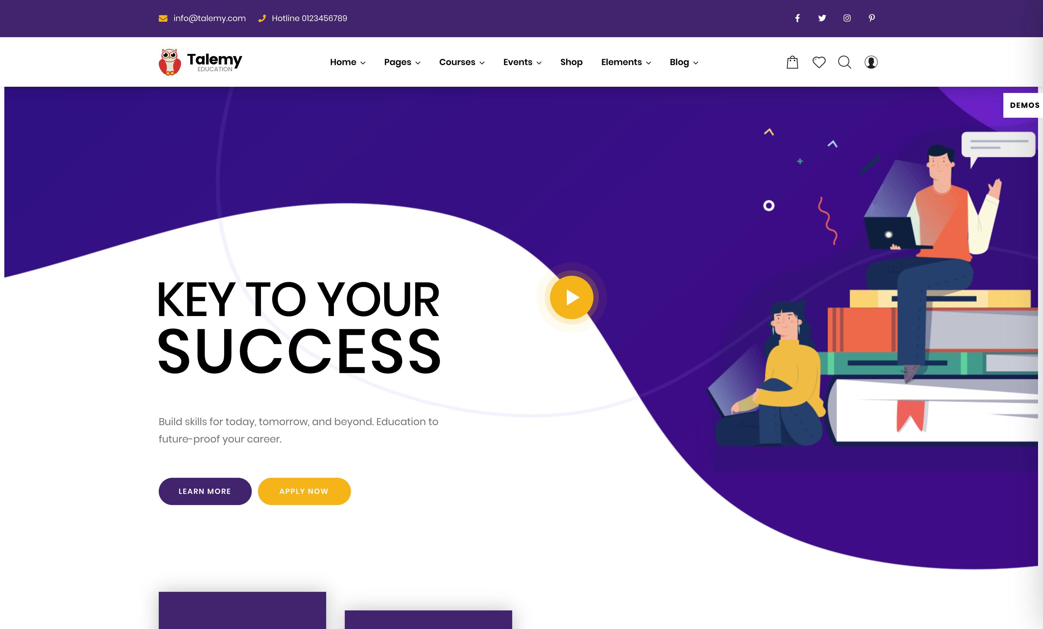 Talemy-教育培训课程机构WordPress主题