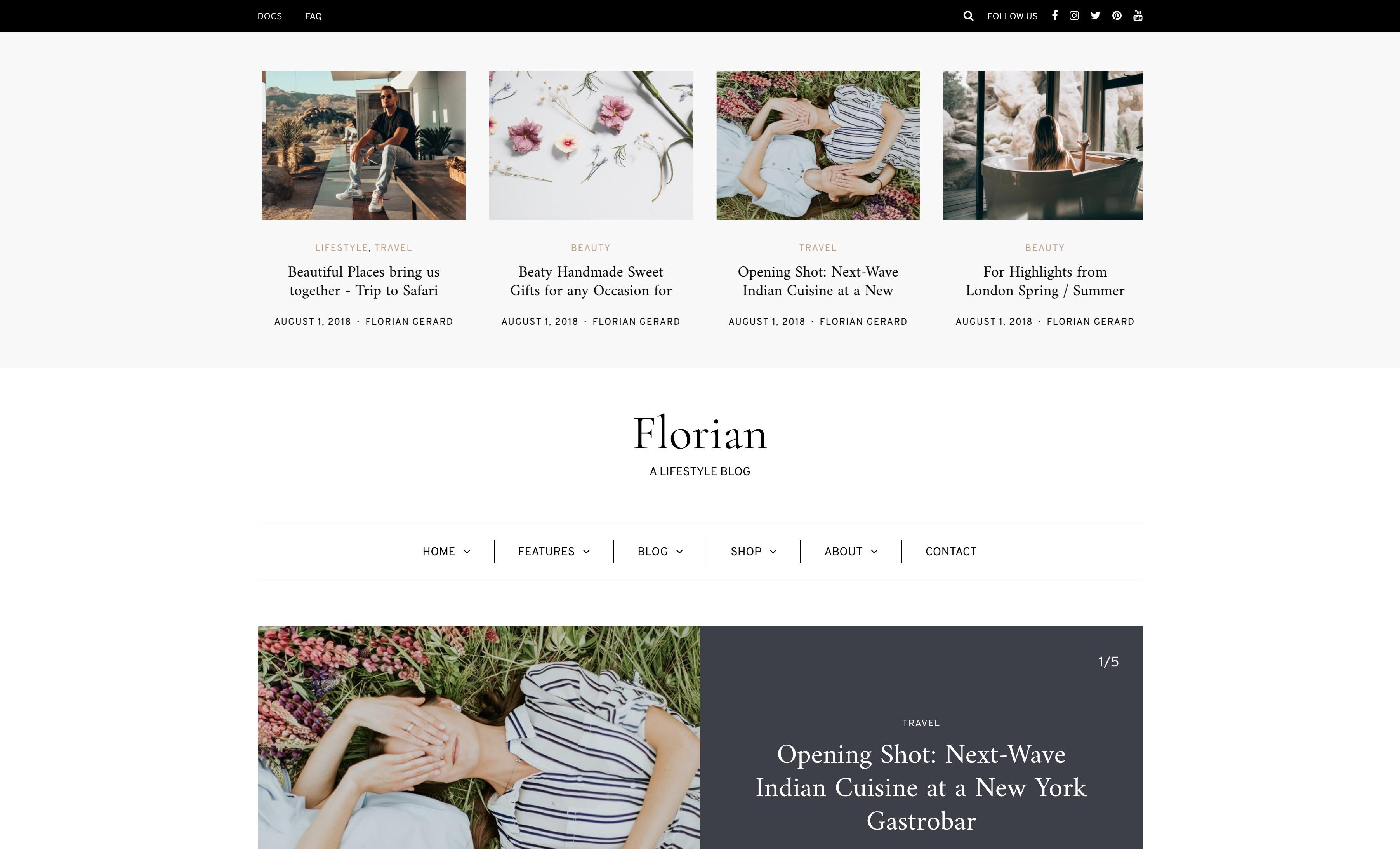 Florian - 个人博客新闻网站WordPress主题模板