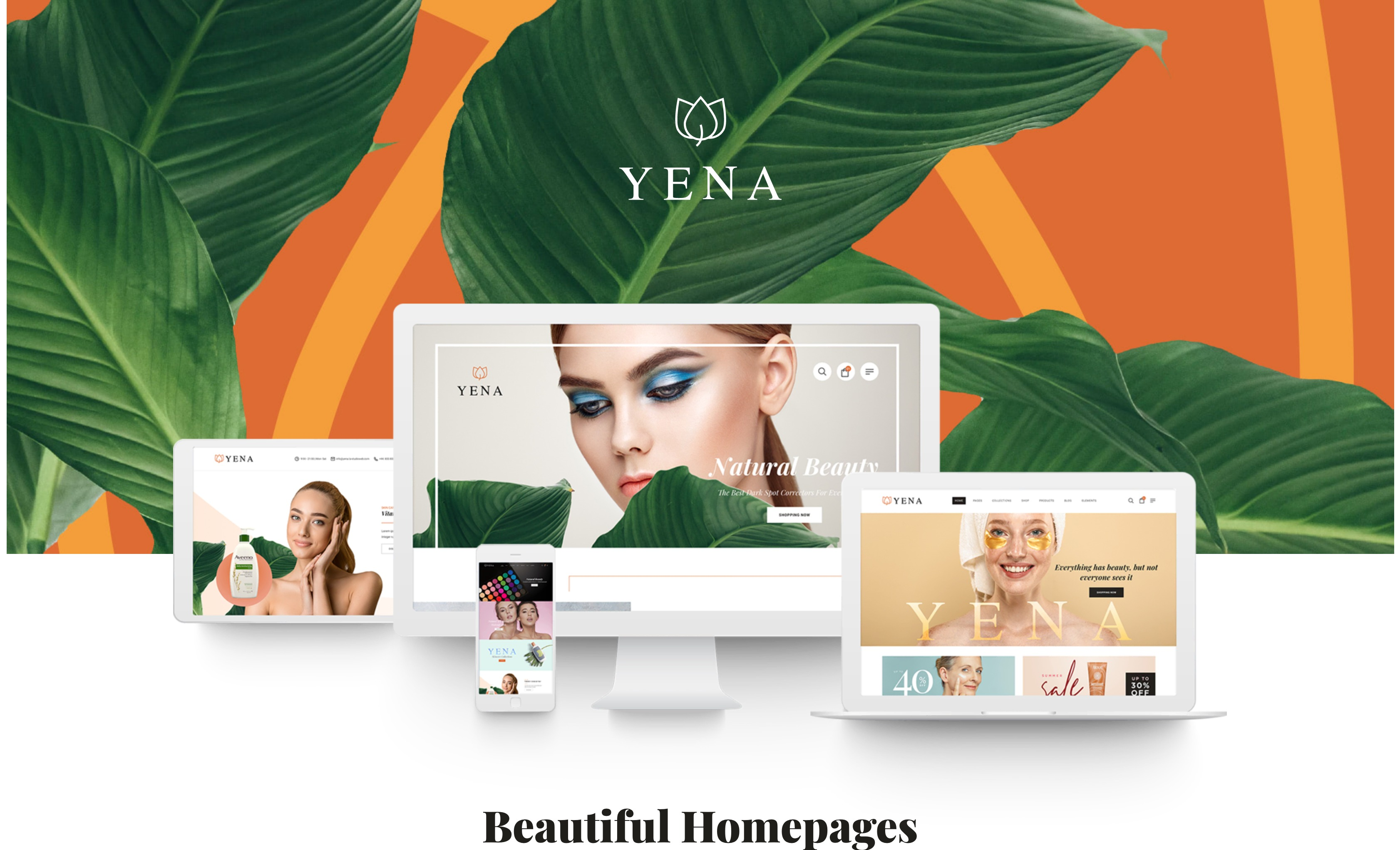 Yena-美容护肤化妆品商城WordPress主题
