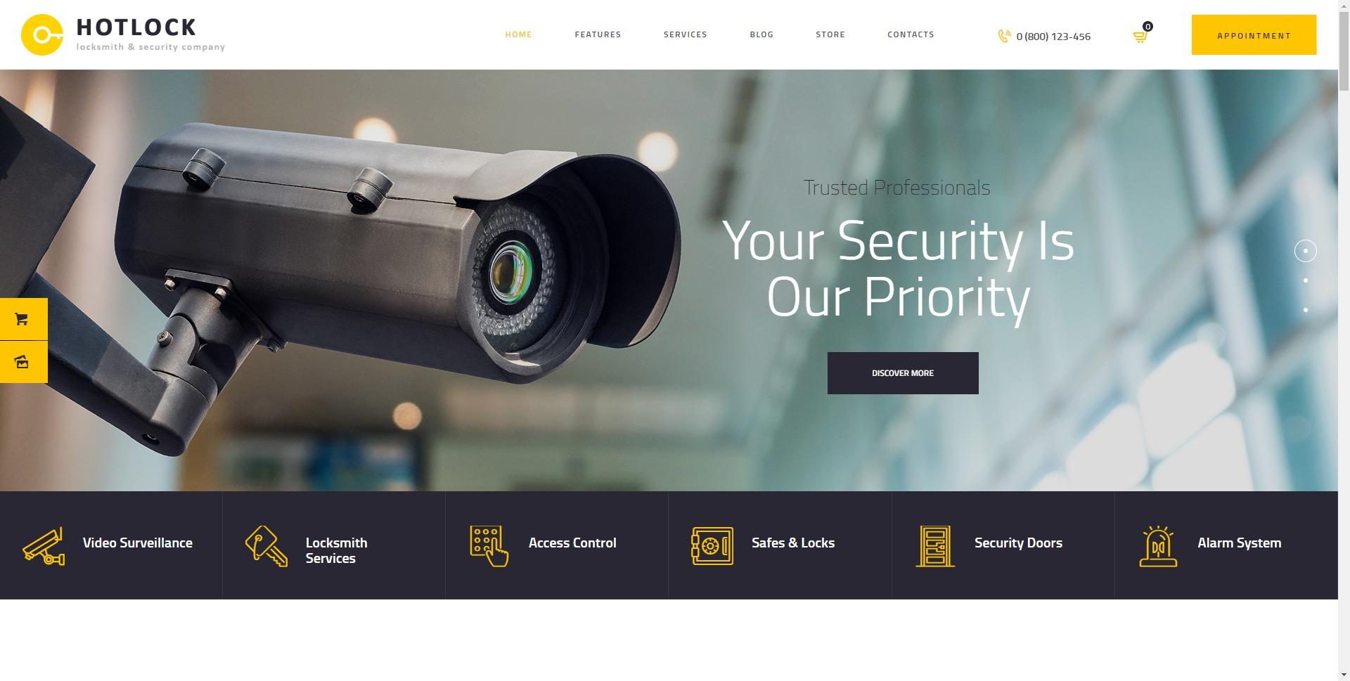 HotLock-密码锁保安防护系统WordPress主题