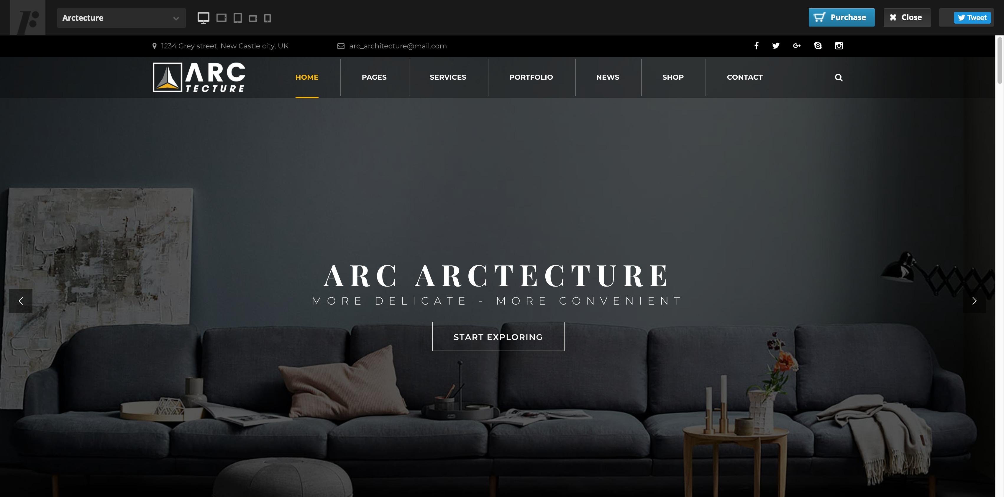 Arctecture-建筑装饰室内设计WordPress主题