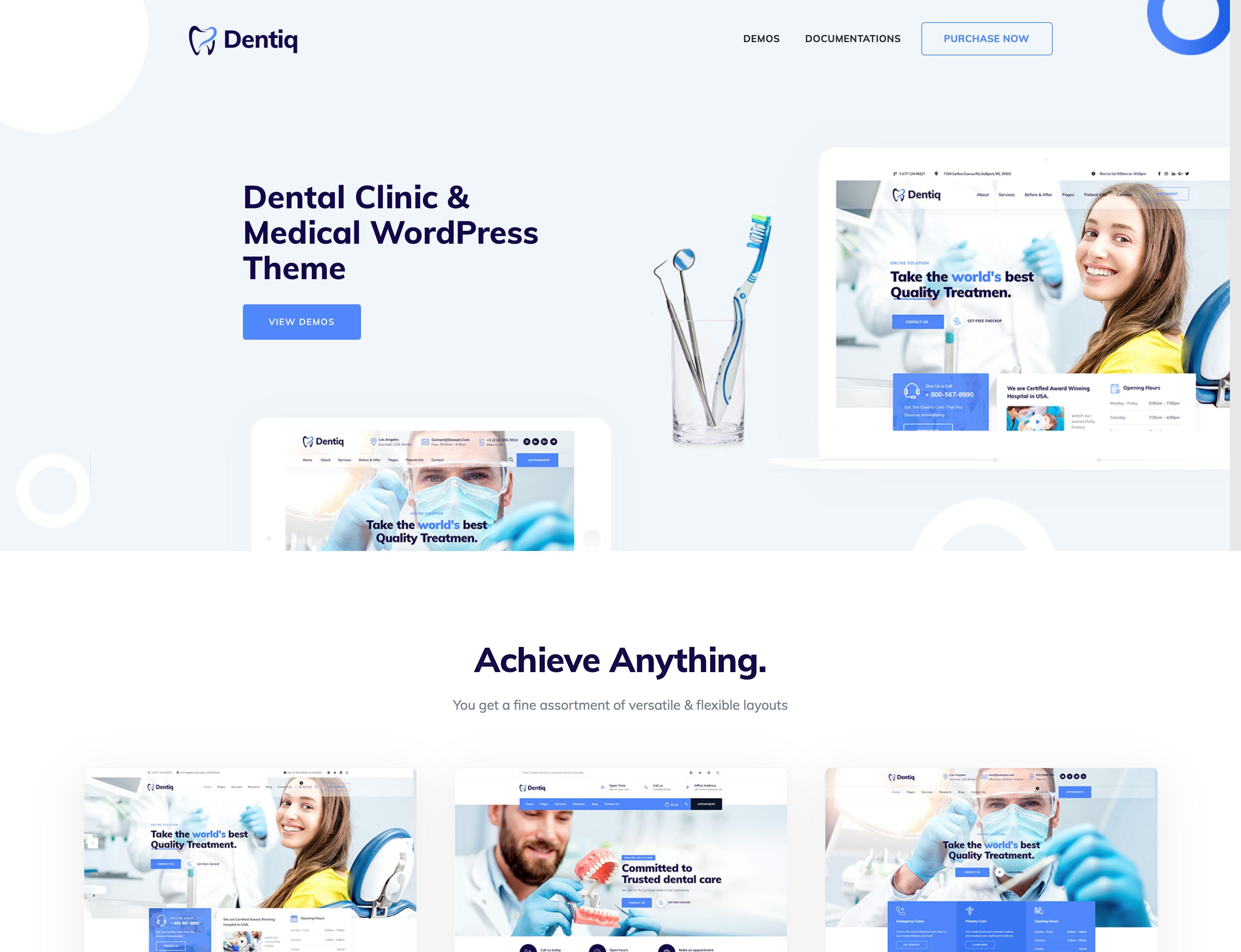 Dentiq - 口腔牙科医院诊所医疗WordPress主题