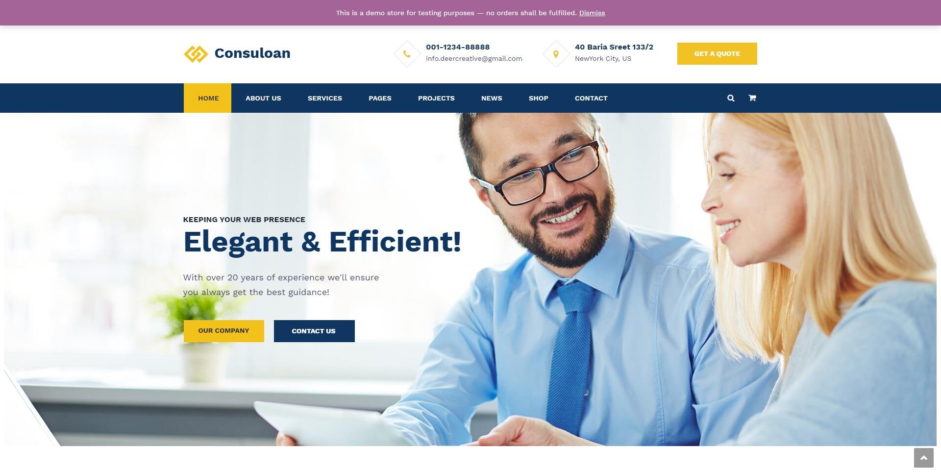 Consuloan-财务记账咨询商务WordPress主题