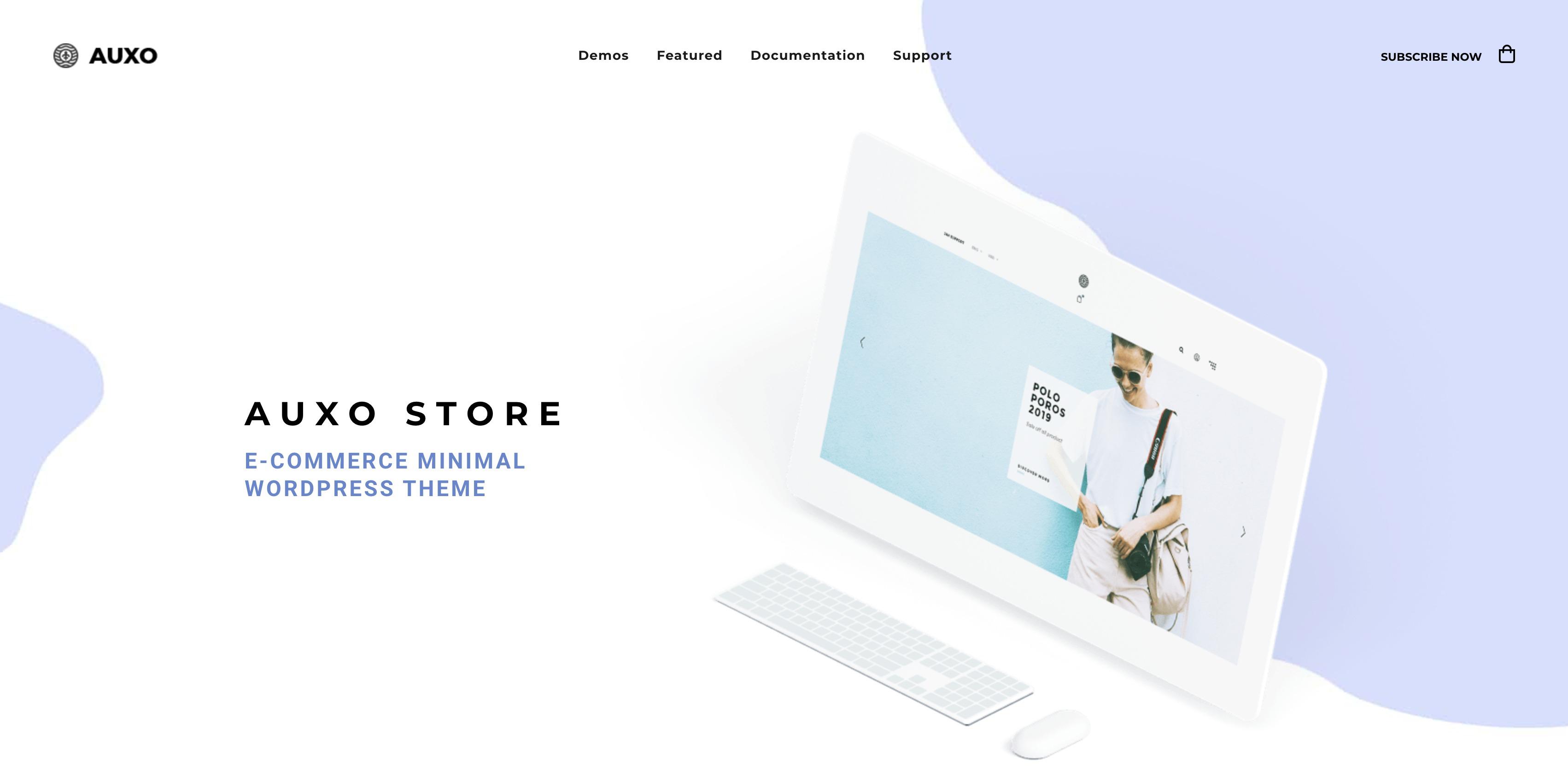 Auxo - 轻型迷你购物商城模板Wordpress主题