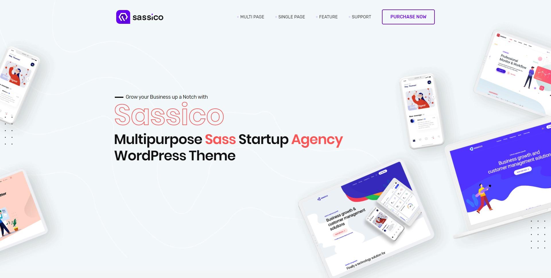 Sassico-移动APP多用途IT软件WordPress主题