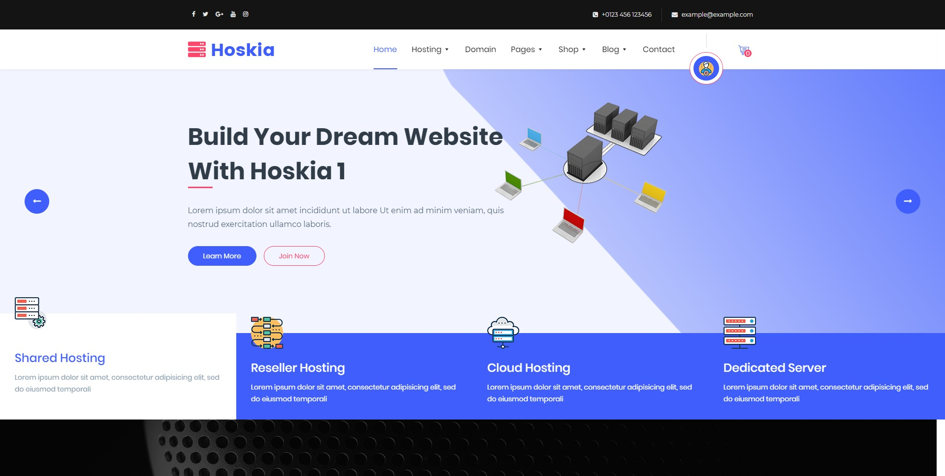 Hoskia-VPS主机空间IDC WordPress主题