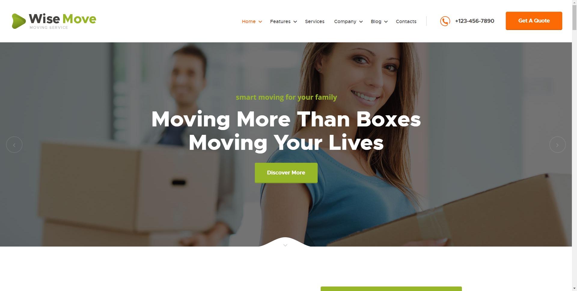 Wise Move-上门搬家搬货服务WordPress主题