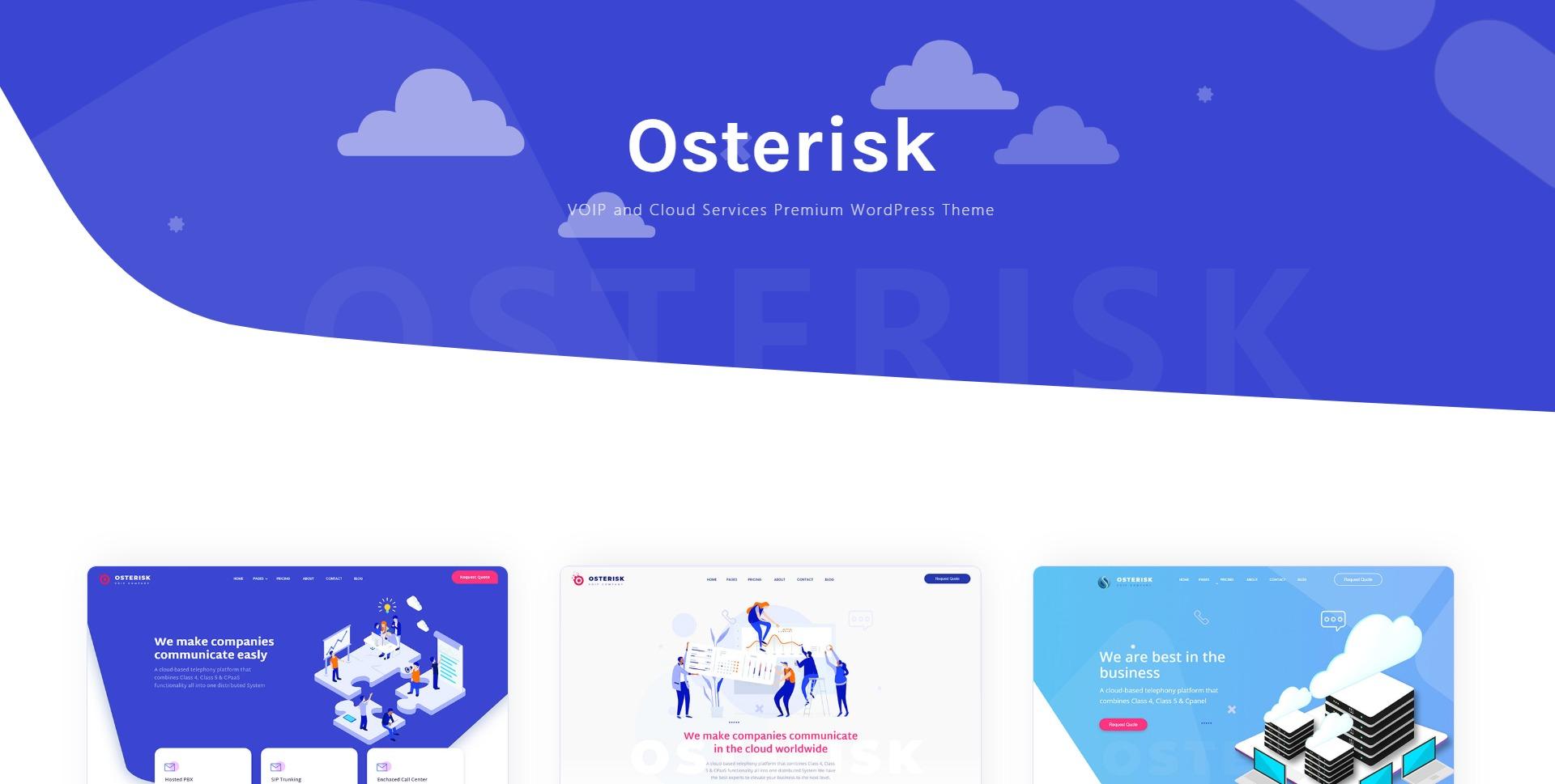 Osterisk-云储存域名注册企业WordPress主题
