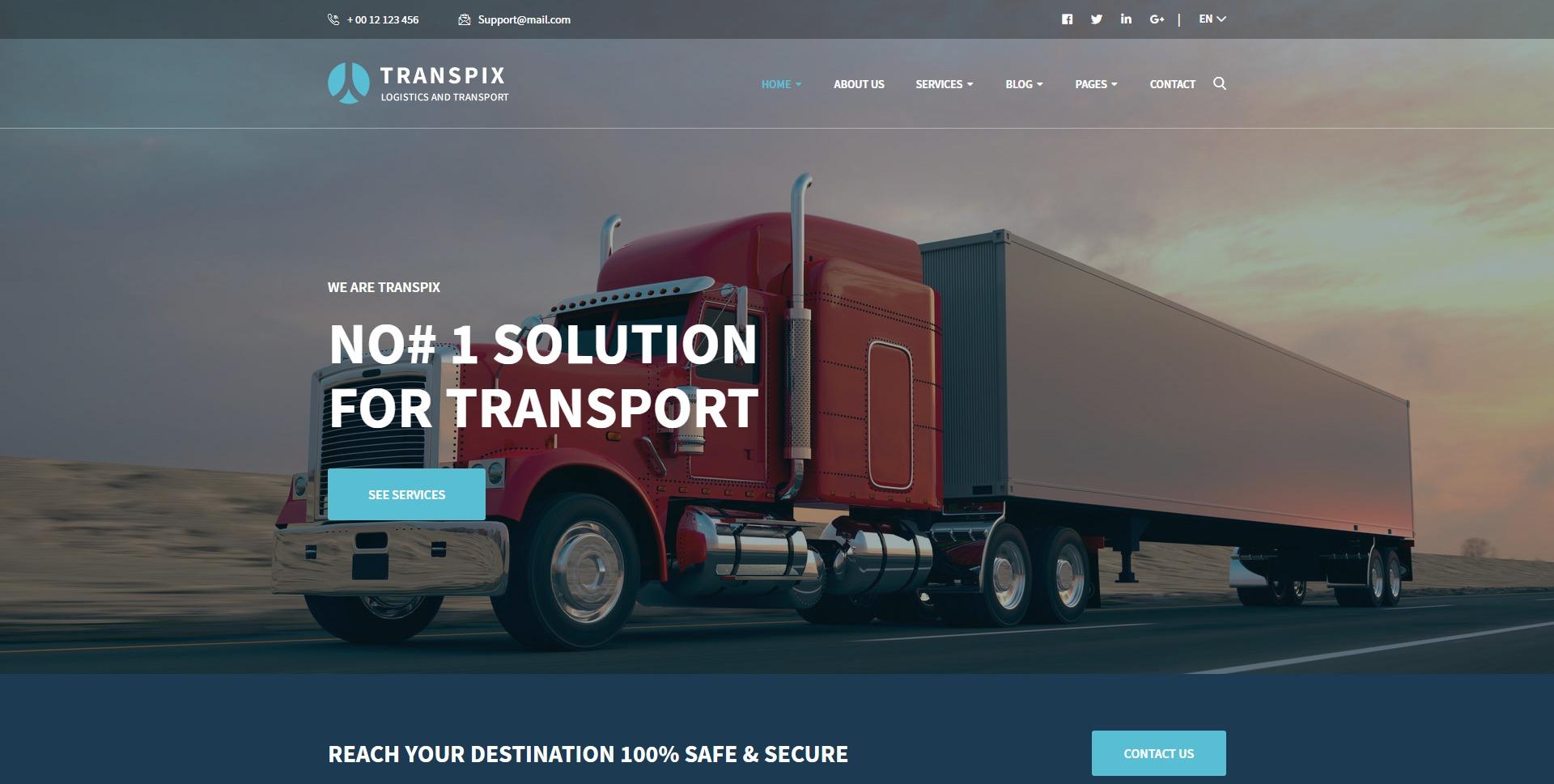 Transpix-快递物流仓库运输WordPress主题