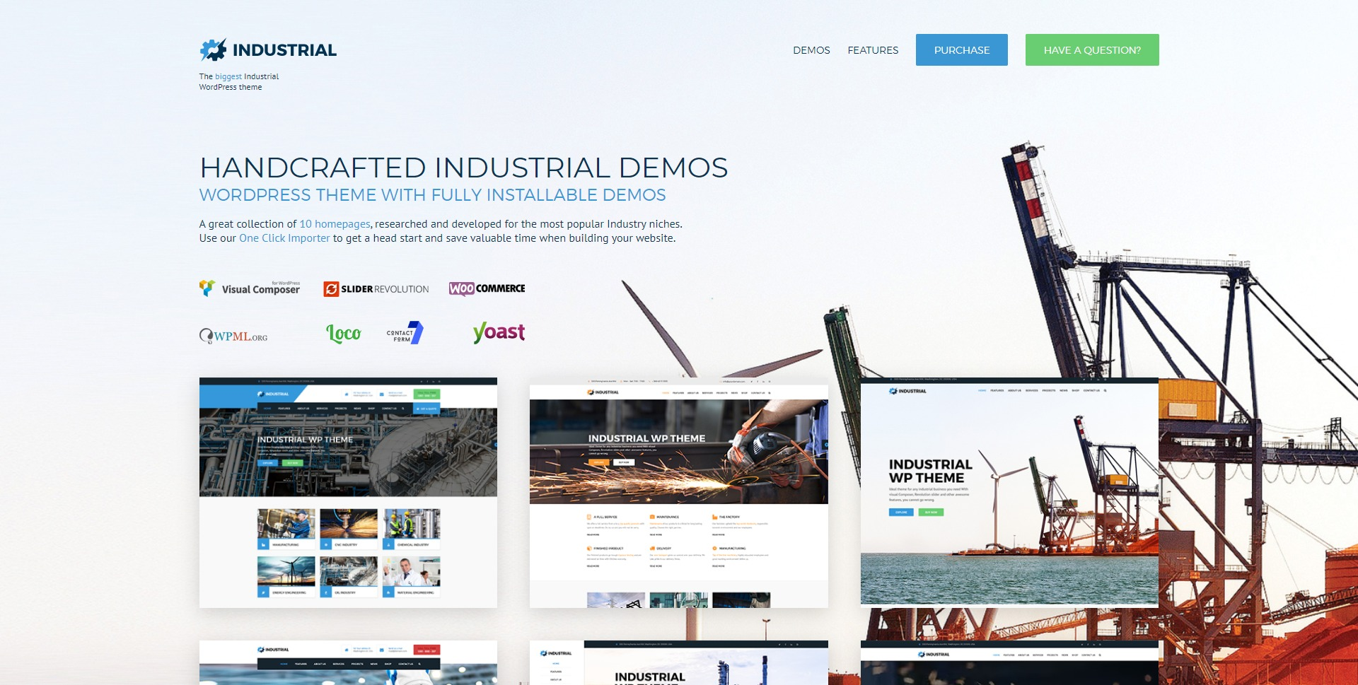 Industrial-生产加工建筑工业WordPress主题