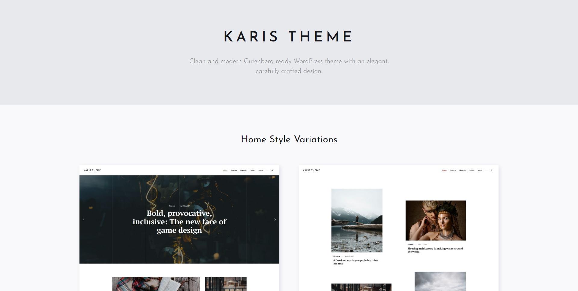 Karis-博客新闻杂志图片WordPress主题