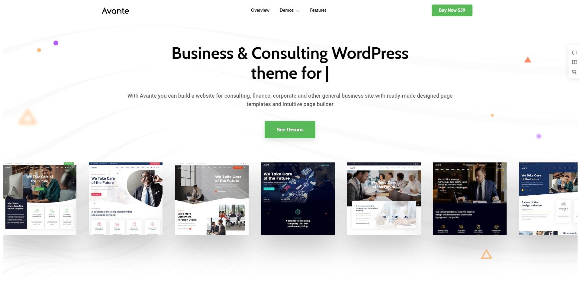 Avante-金融投资咨询财务企业WordPress主题