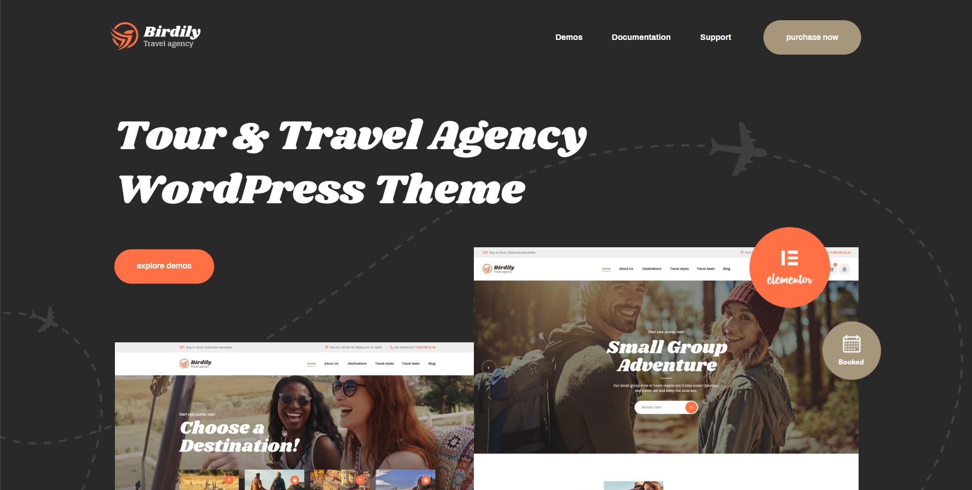 Birdily-网红旅行社旅游预订服务WordPress主题