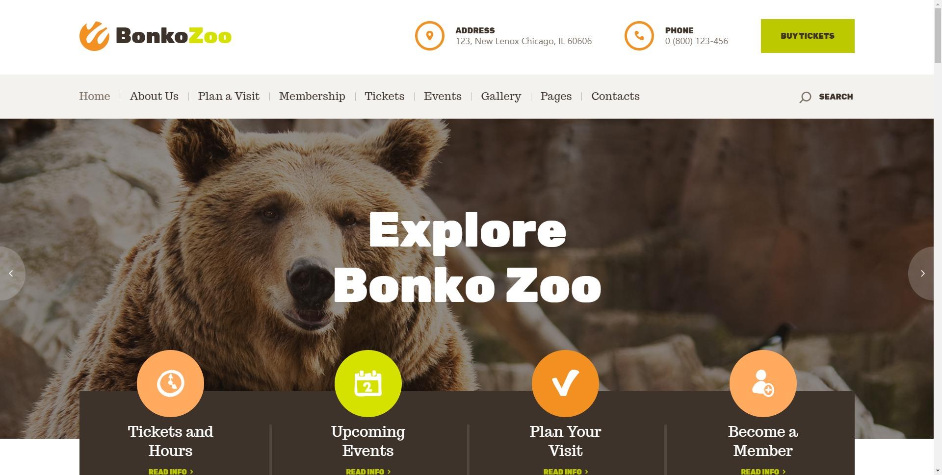 Bonko-亲子野生动物园海洋馆WordPress主题