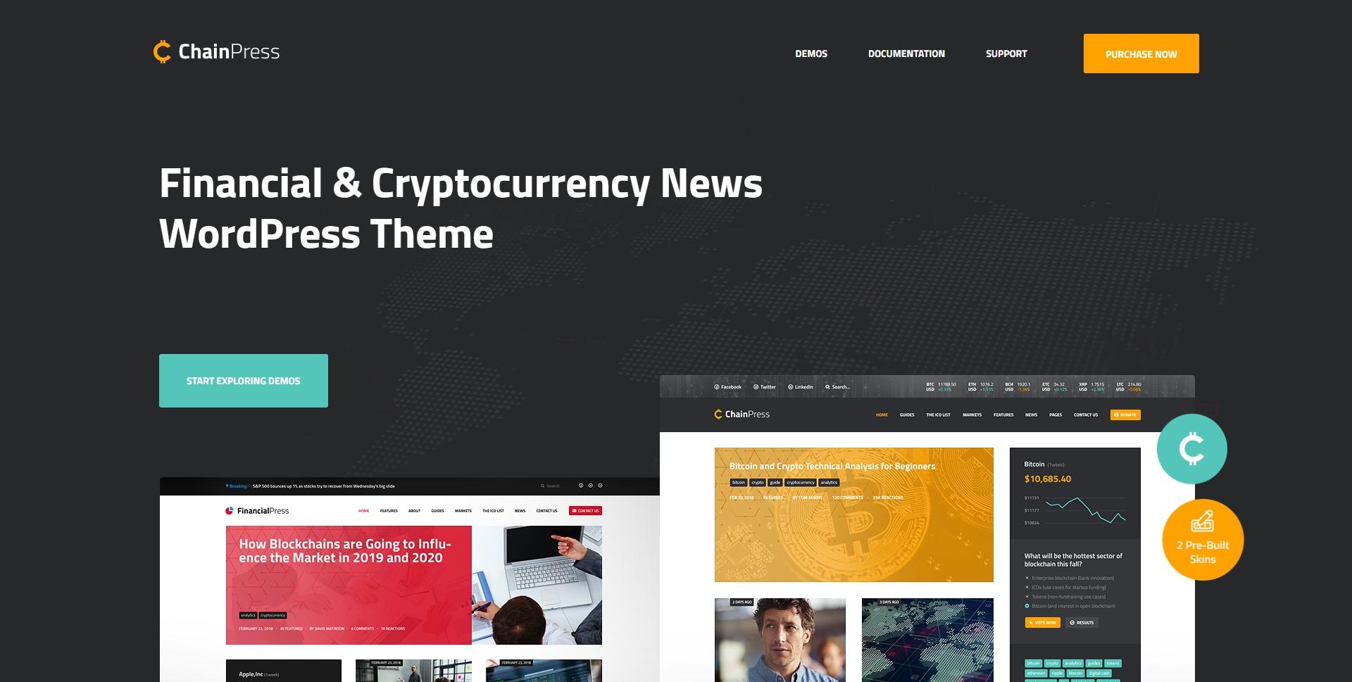 ChainPress-区块链金融比特币WordPress主题