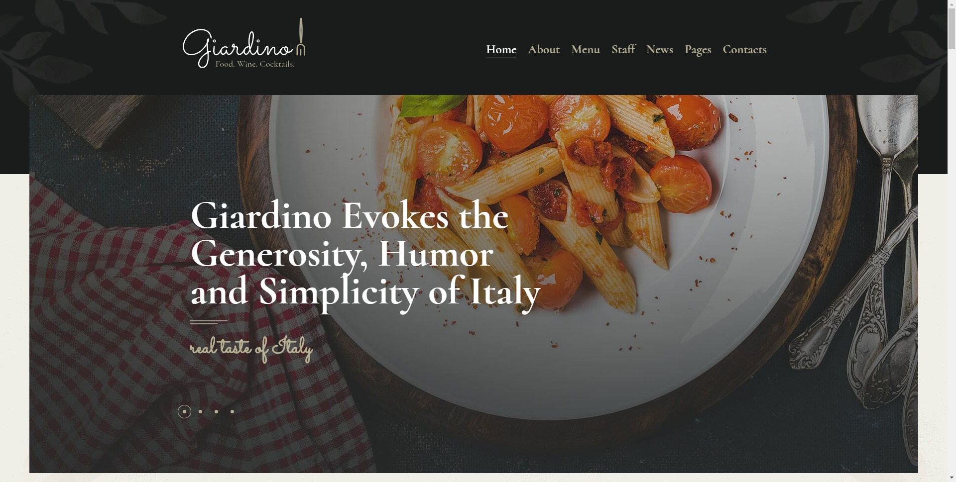 Giardino-意大利餐厅咖啡厅酒吧WordPress主题