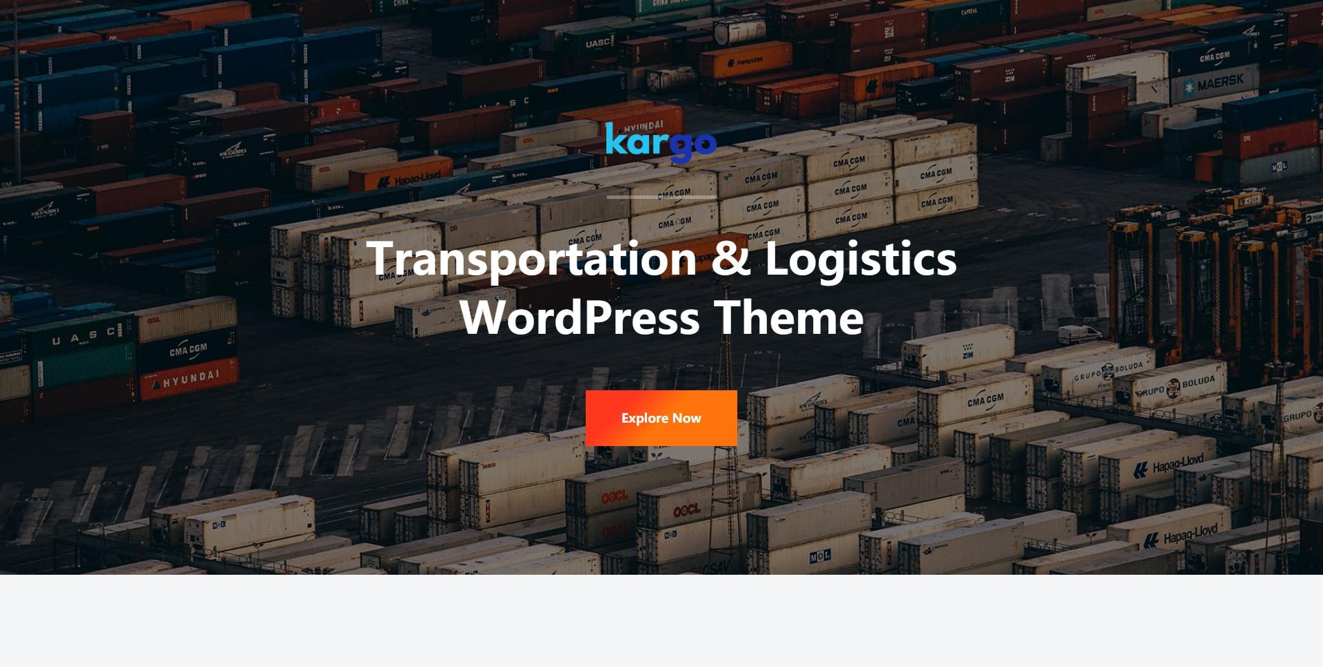 Kargo-物流运输仓储在线查寄快递WordPress主题