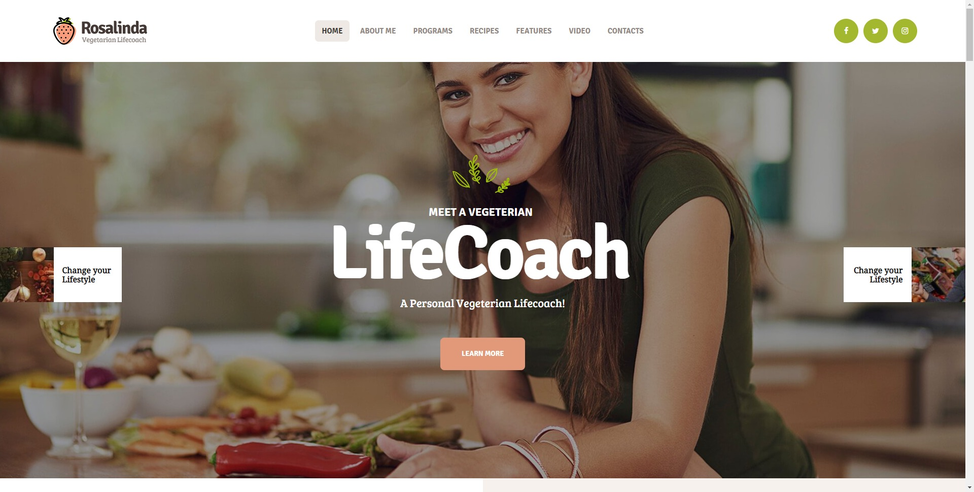 Rosalinda-健康食品营养师健康烹饪WordPress主题