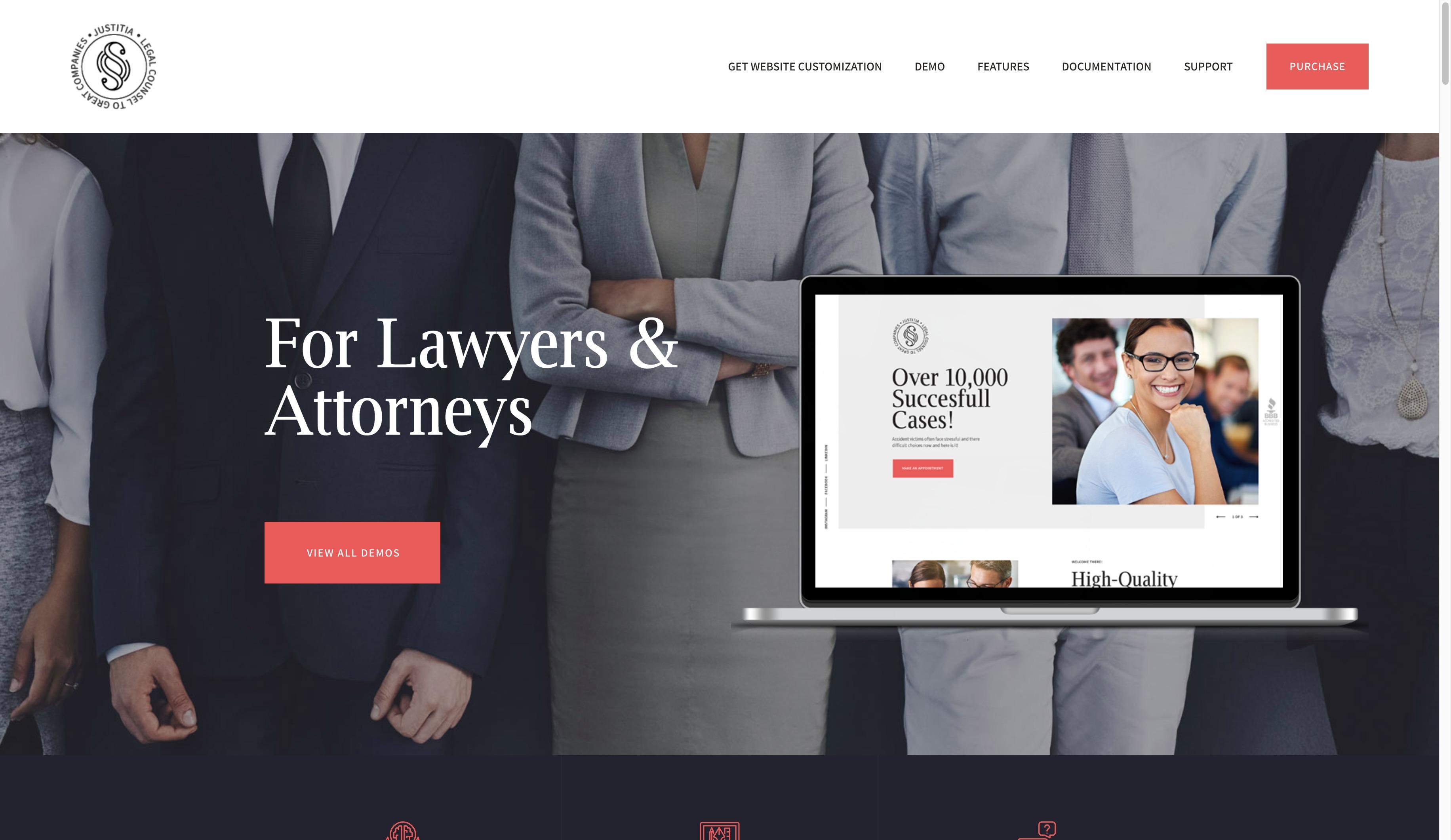 Justitia-律师事务所法律顾问WordPress主题