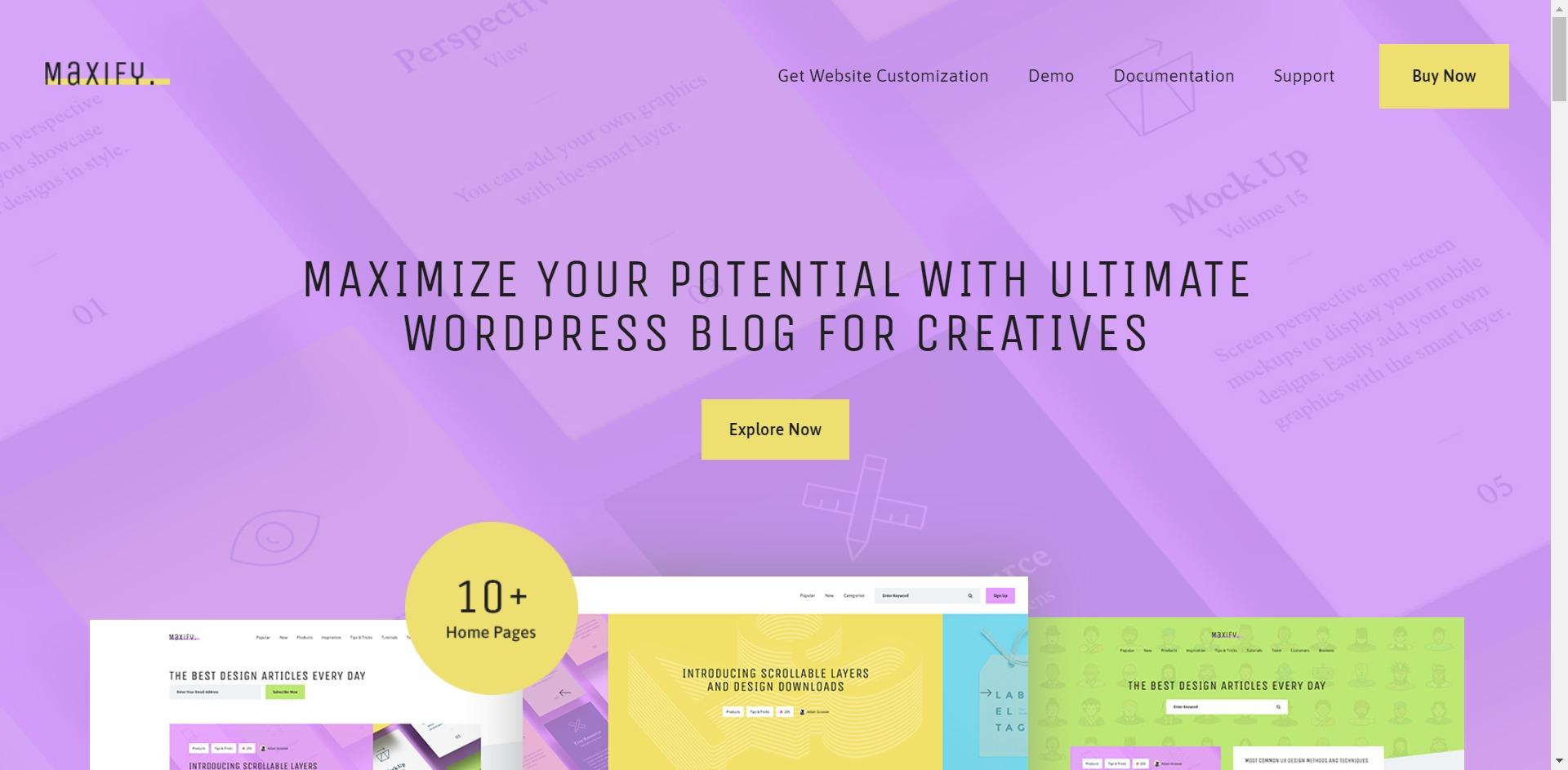 Maxify-扁平化杂志图片新闻WordPress主题