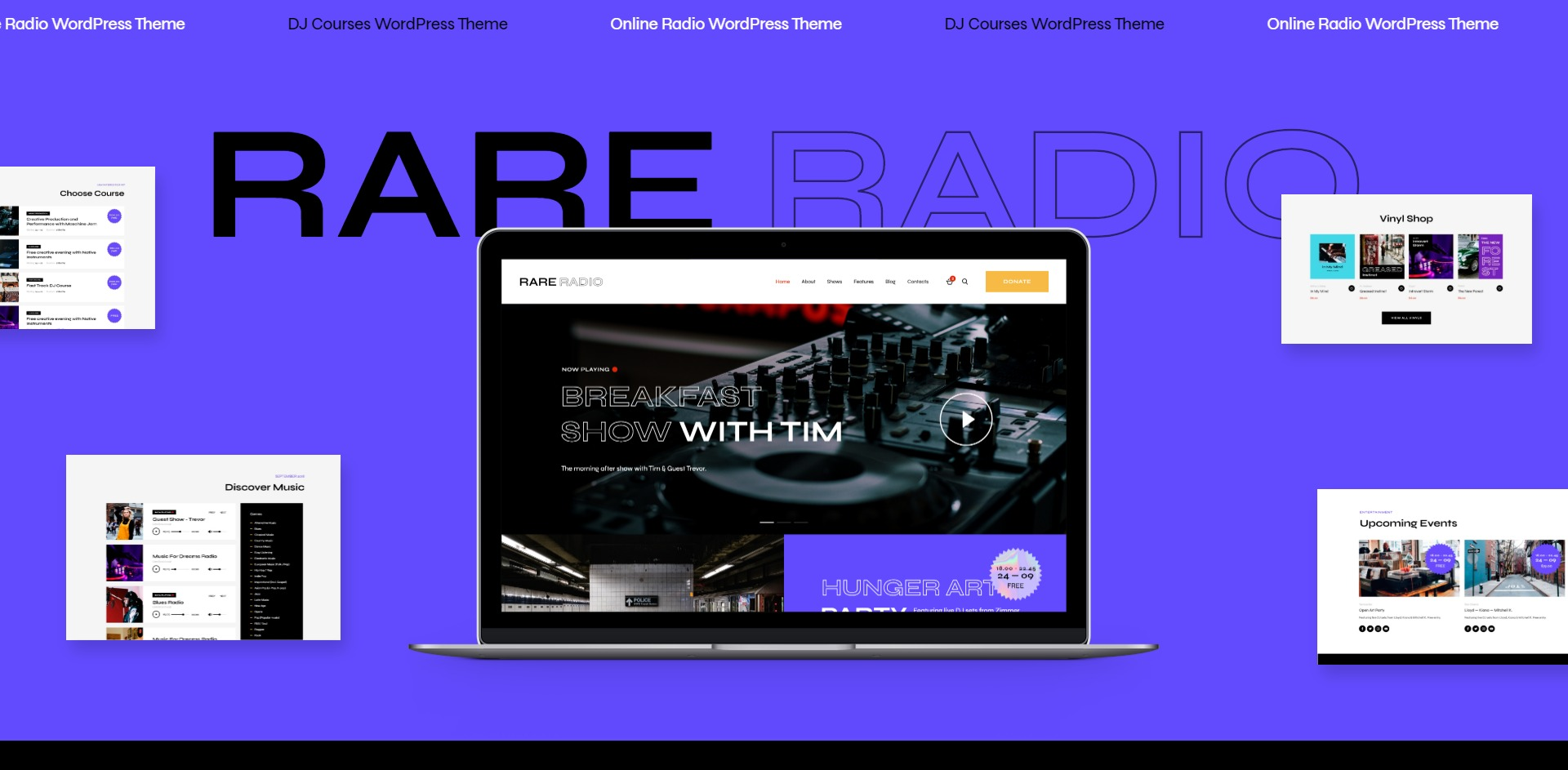 Rare Radio-在线购买歌曲音乐WordPress主题