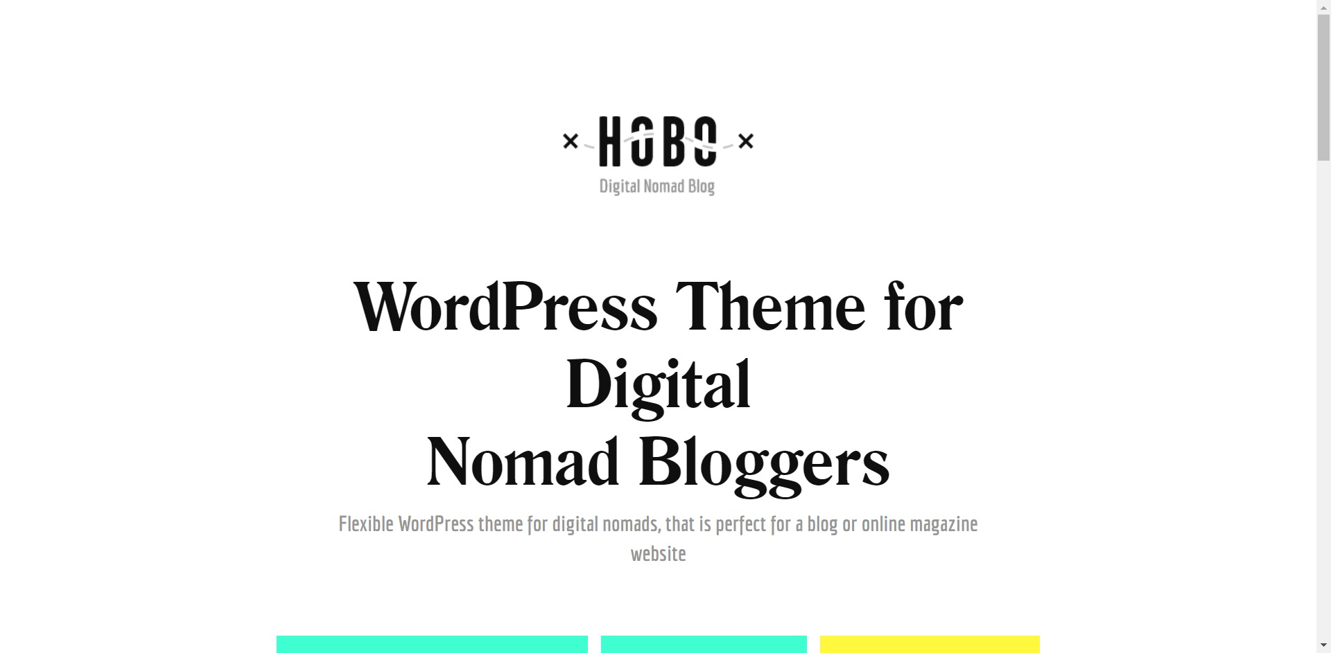 Hobo-网红打卡旅游生活日志博客WordPress主题