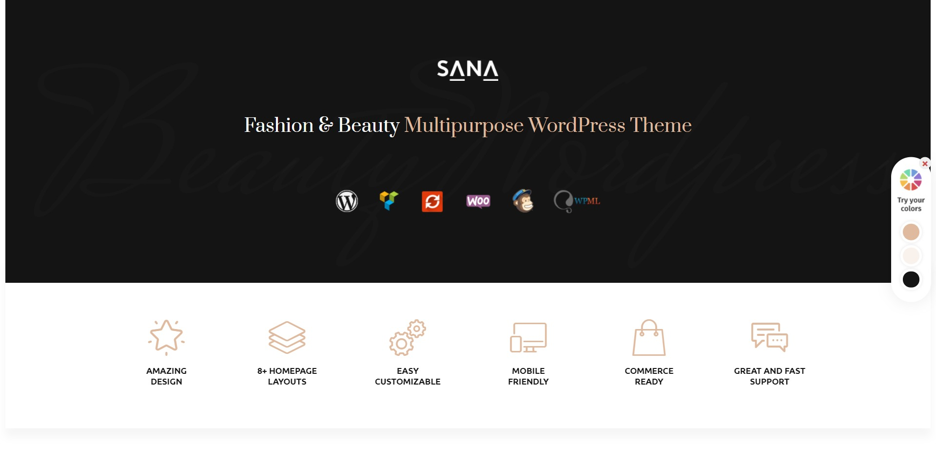 Sana-时尚造型师美容院化妆师WordPress主题