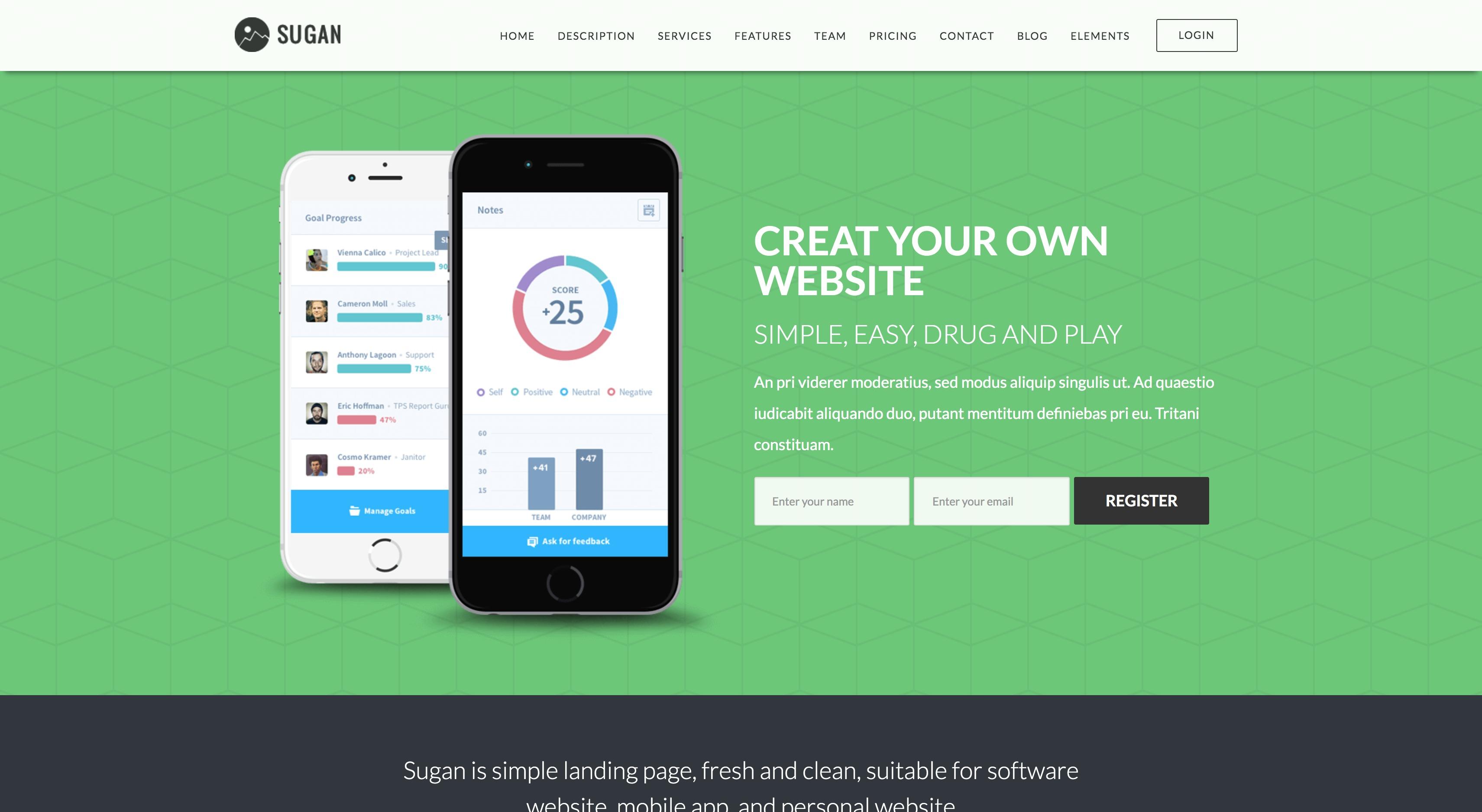 Sugan-手机软件APP程序下载WordPress主题