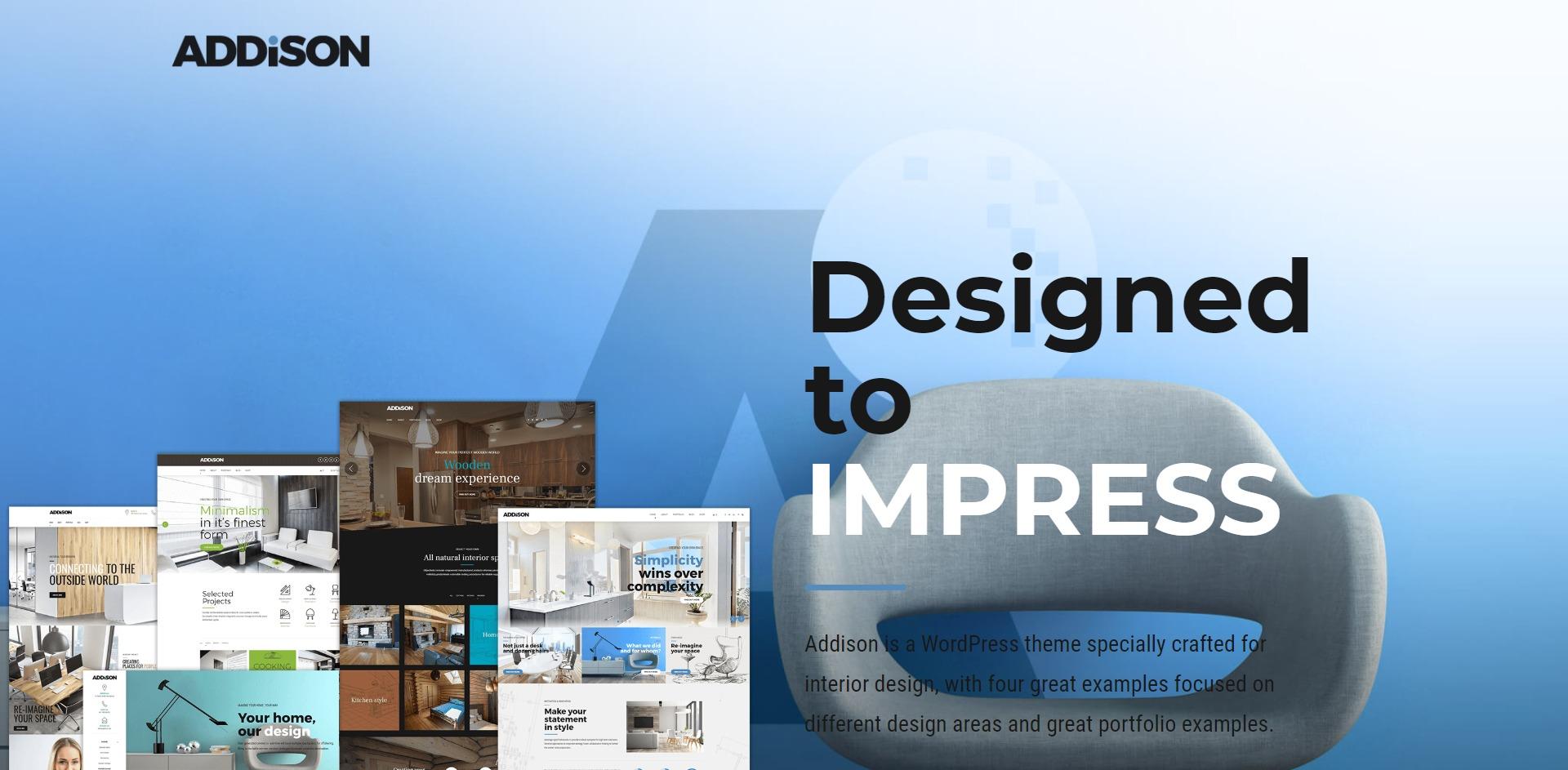 Addison-室内设计建筑效果图WordPress主题