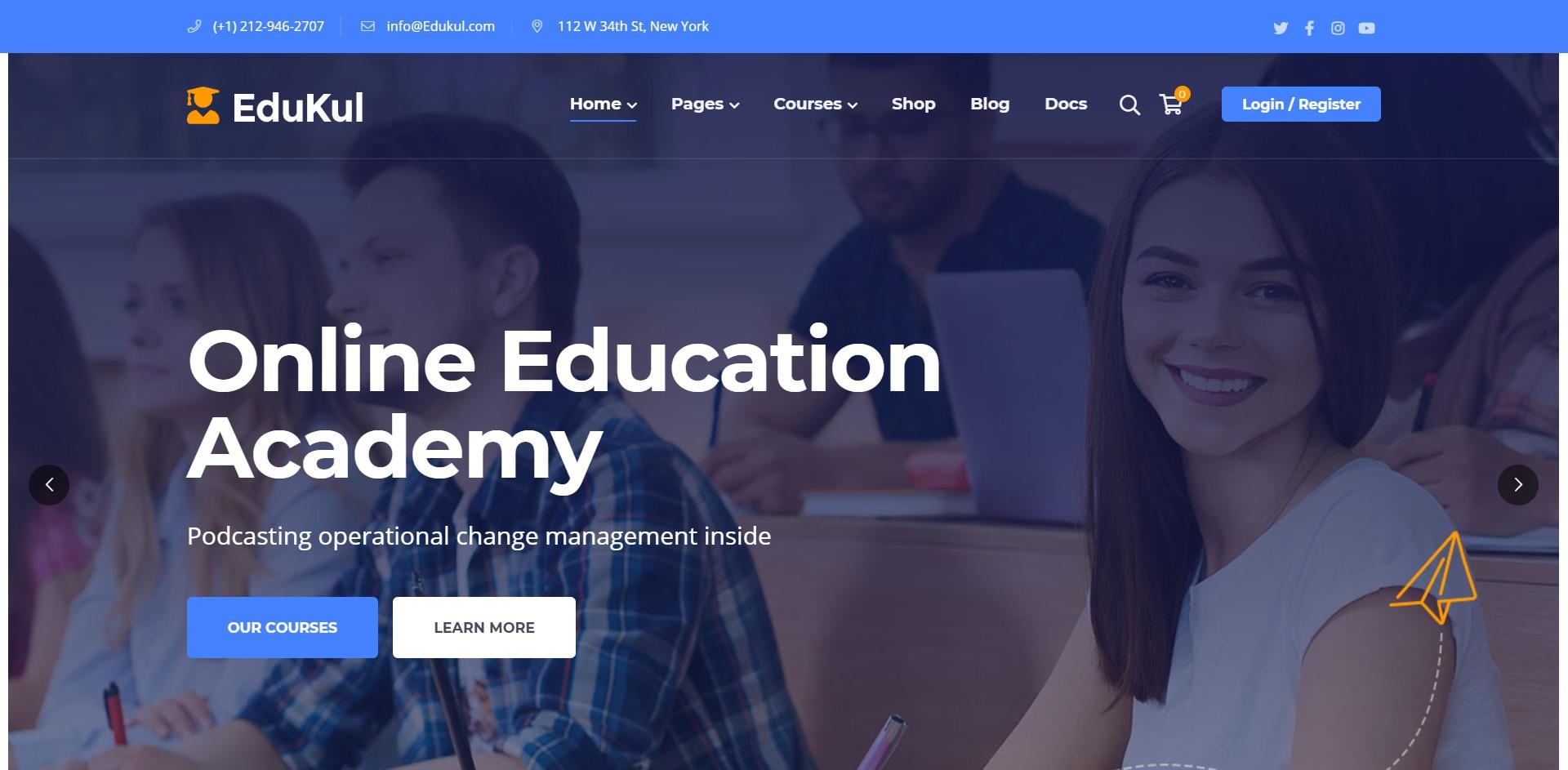 Edukul-在线辅导培训课程WordPress主题
