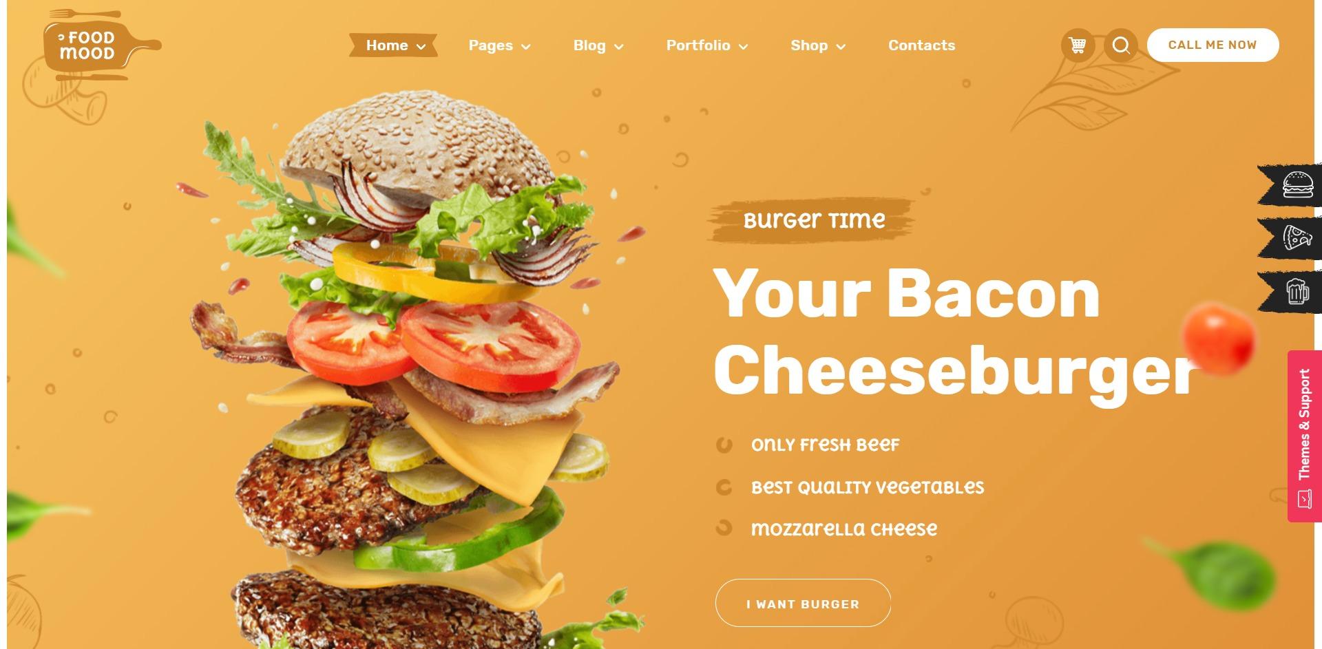 Foodmood-在线美食订餐外卖WordPress主题