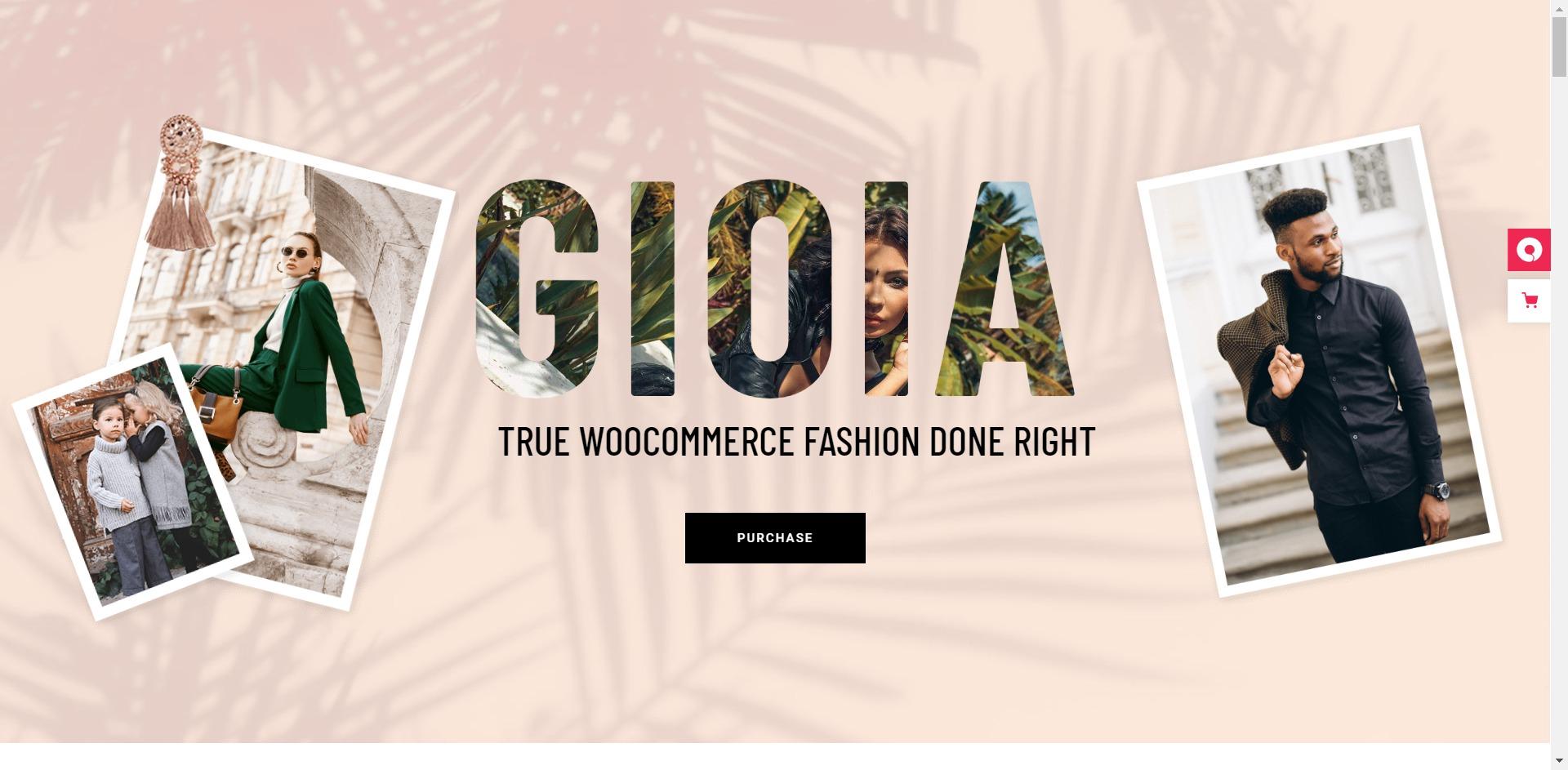 Gioia-服饰在线购物商城WordPress主题