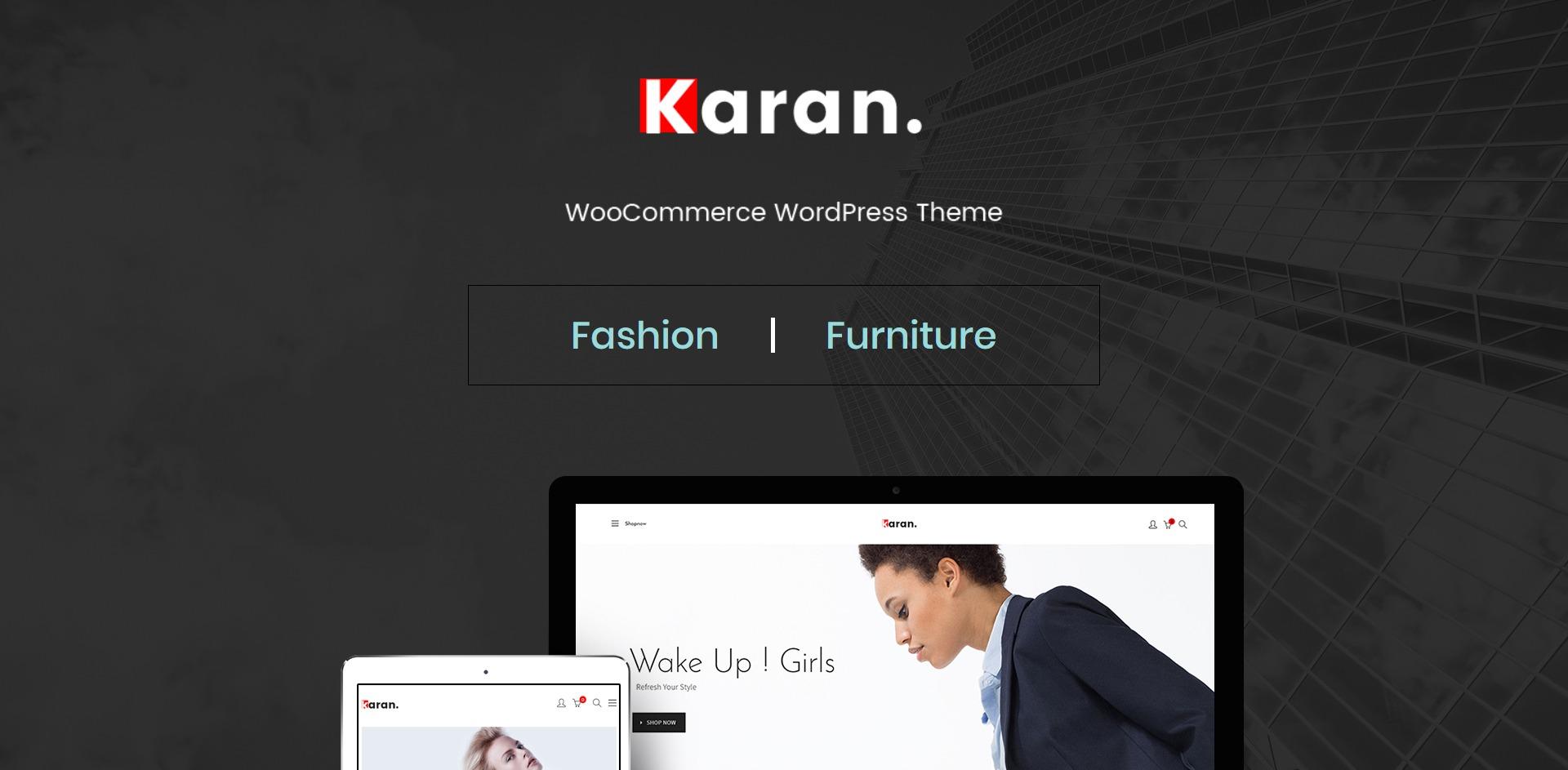 Karan-在线购物时尚服饰商城WordPress主题