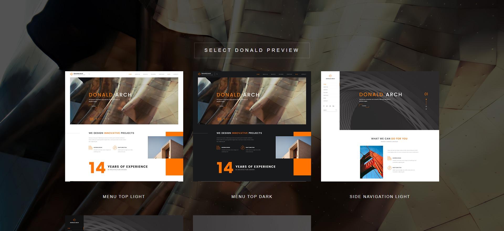 Donald Arch-创意室内设计WordPress主题