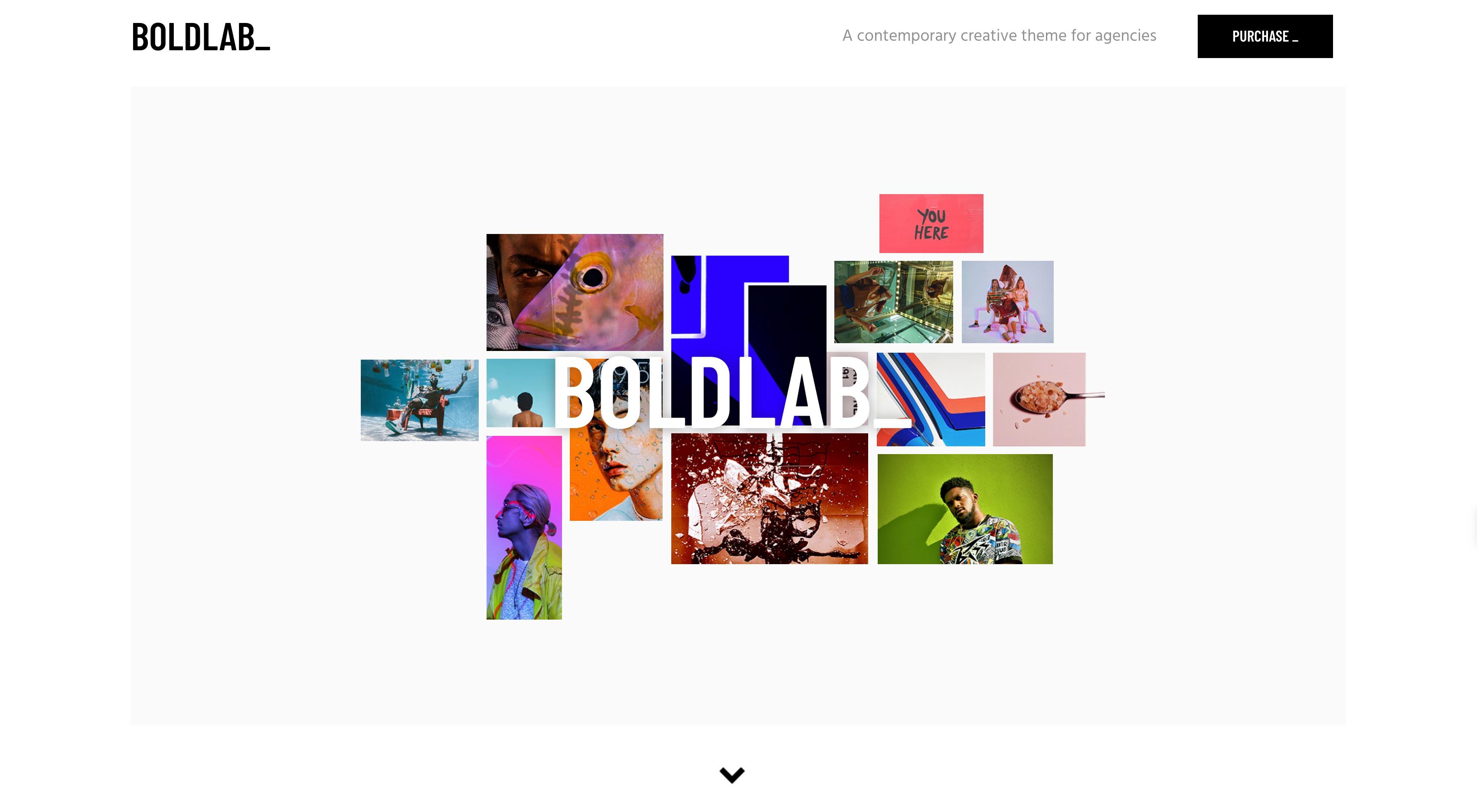 Boldlab-个人作品设计展示WordPress模板