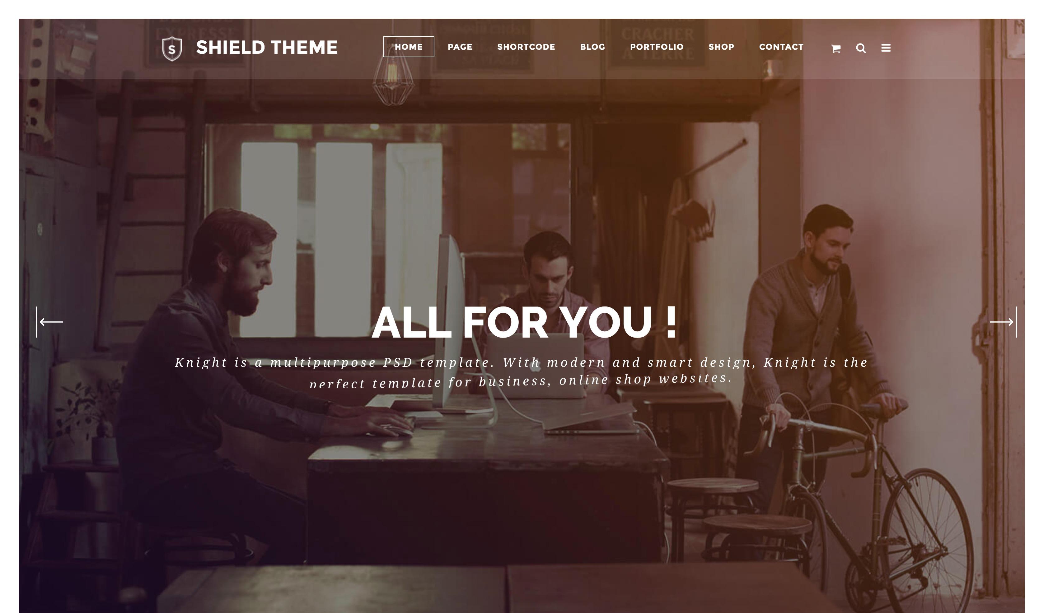 Shield-创意响应式个人作品WordPress主题