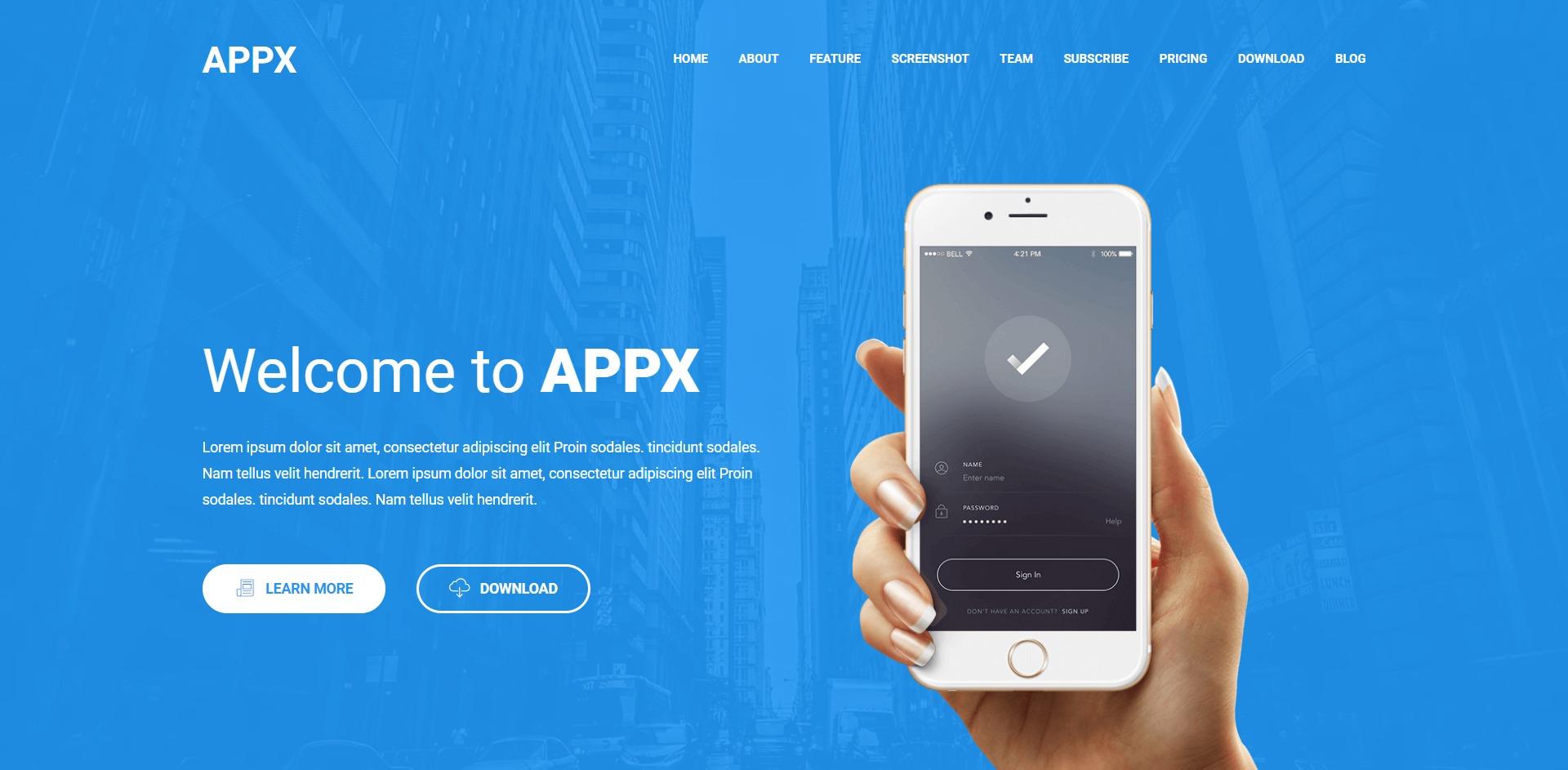 Appx-移动App应用程序展示WordPress主题