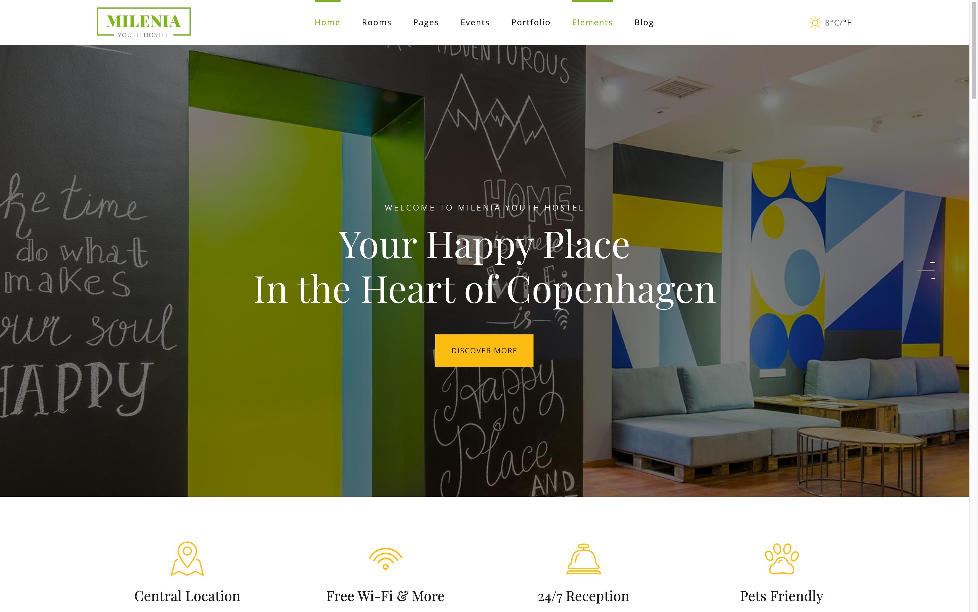 Milenia-酒店民宿公寓预订WordPress主题
