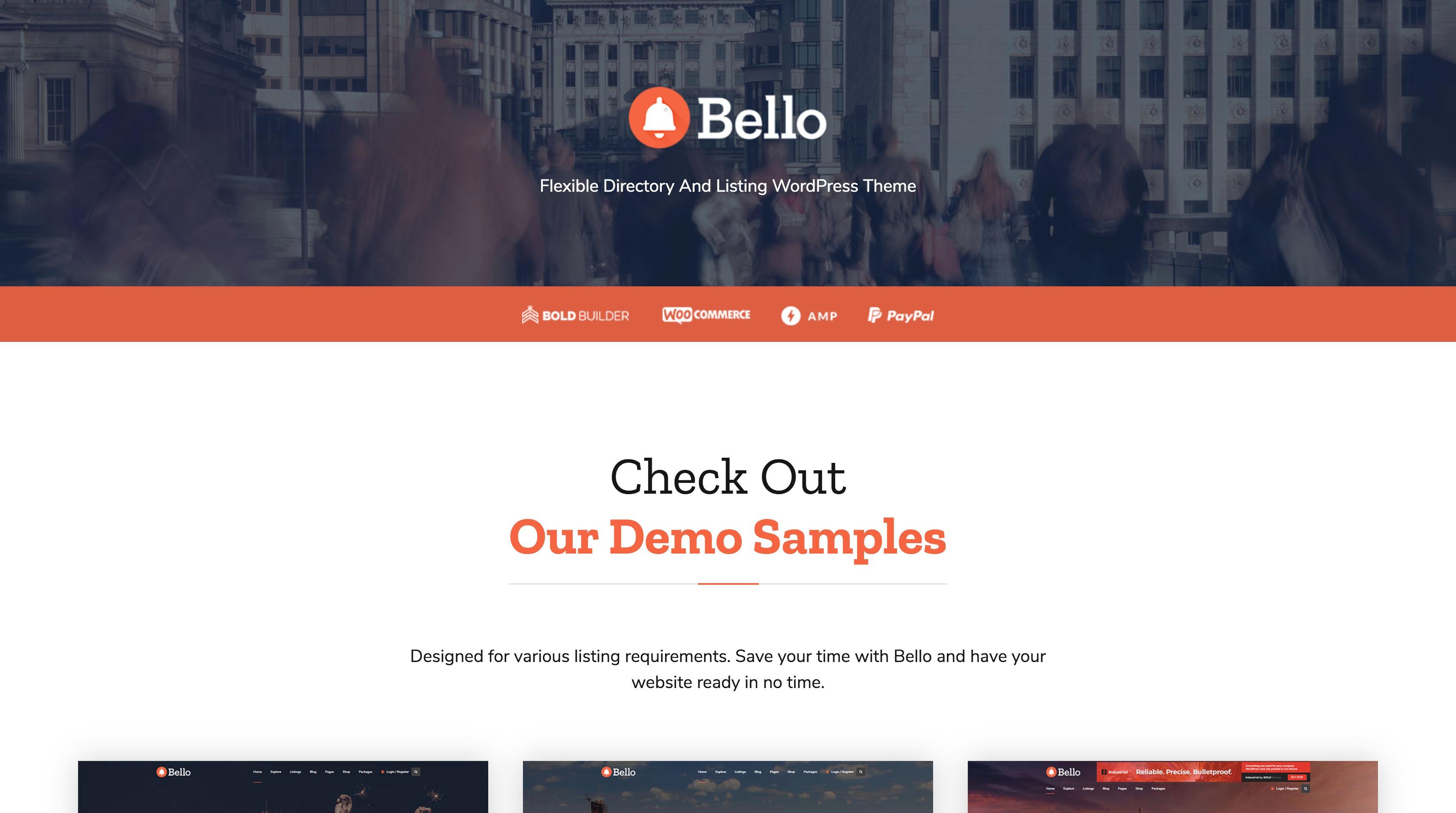 Bello-网红店点评打卡商家目录WordPress主题