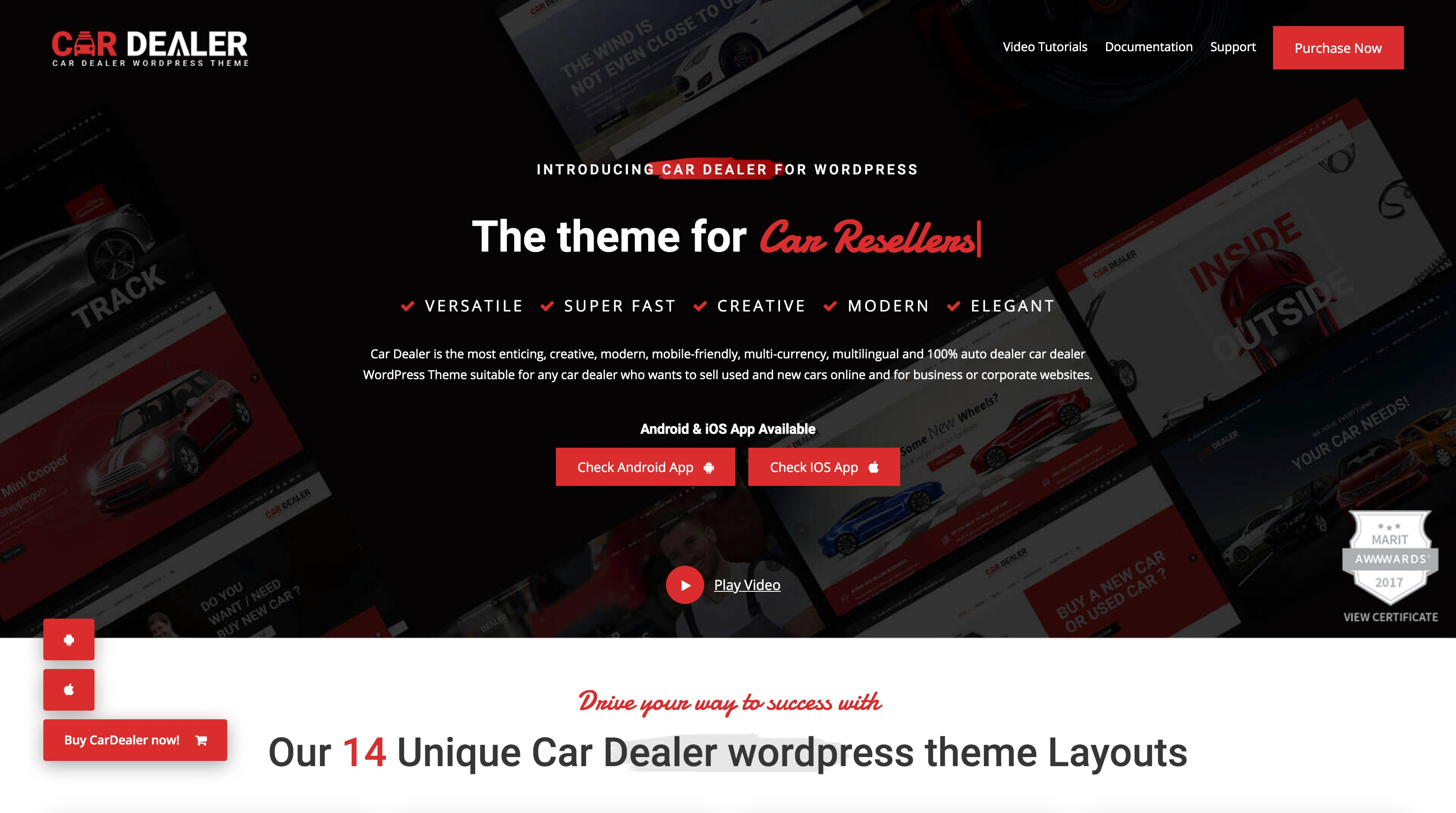 Car Dealer-汽车在线销售汽配WordPress主题