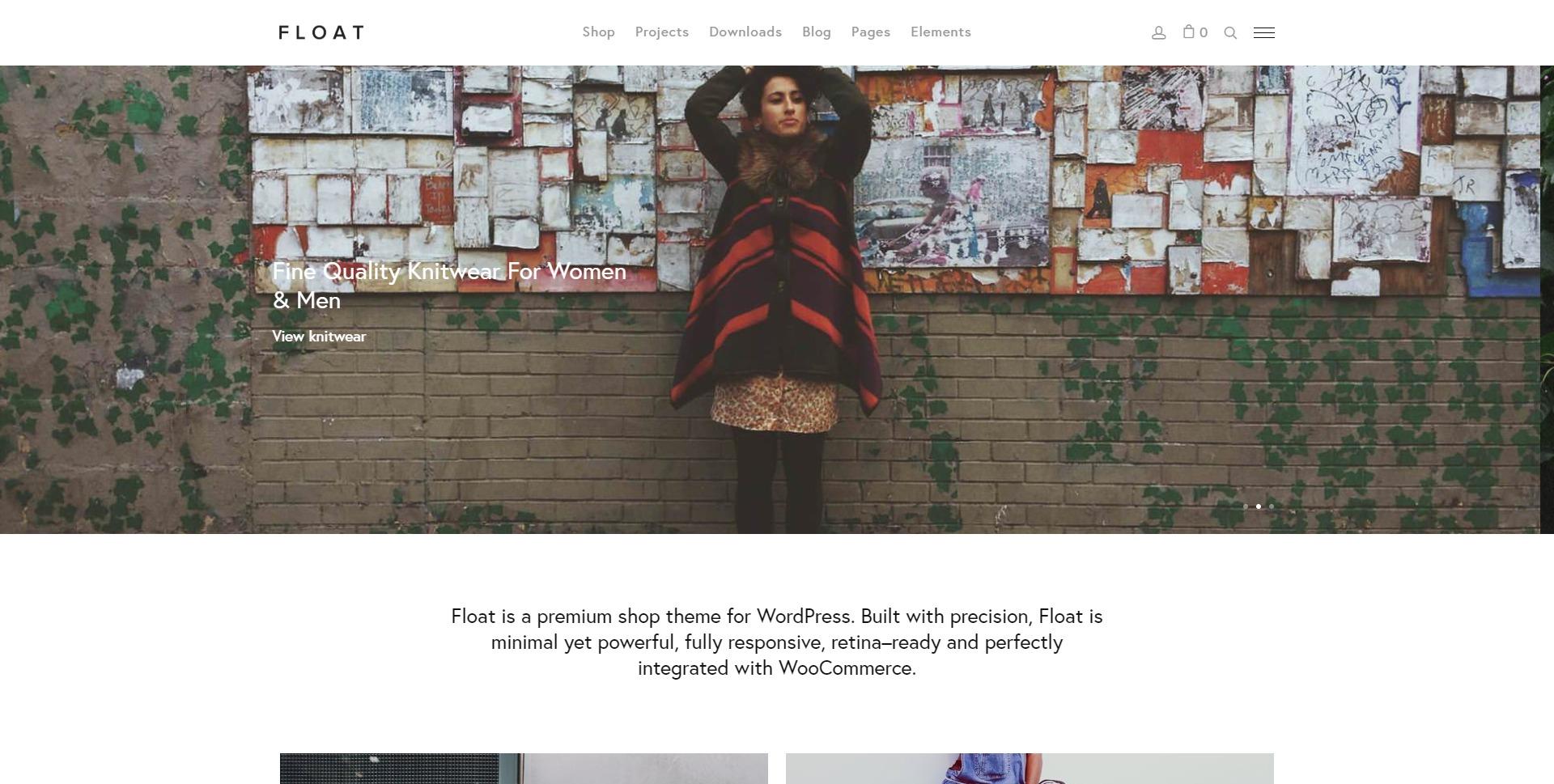 Float-在线简约购物服饰商城WordPress主题