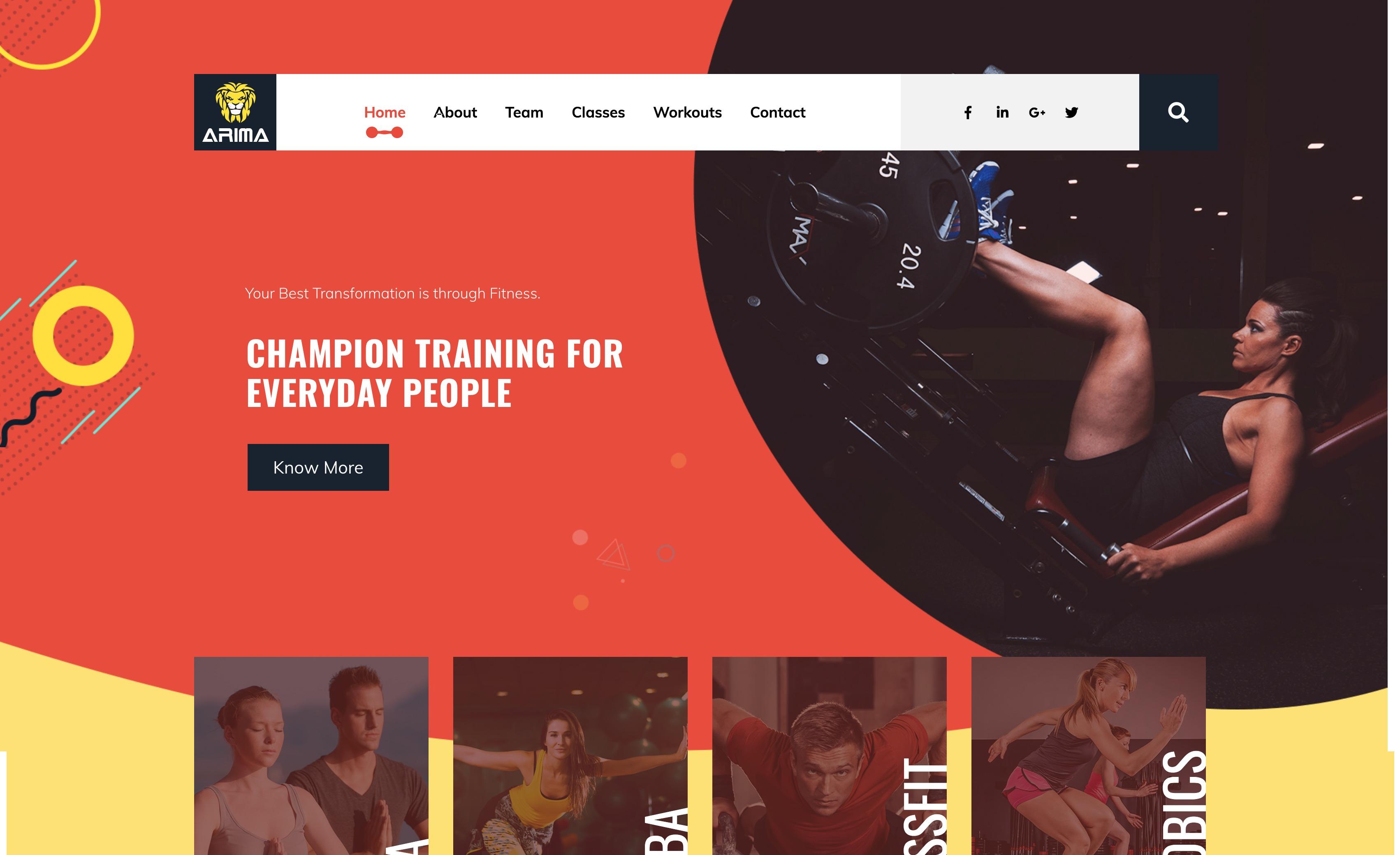 Arima-在线健身拳击瑜伽WordPress主题