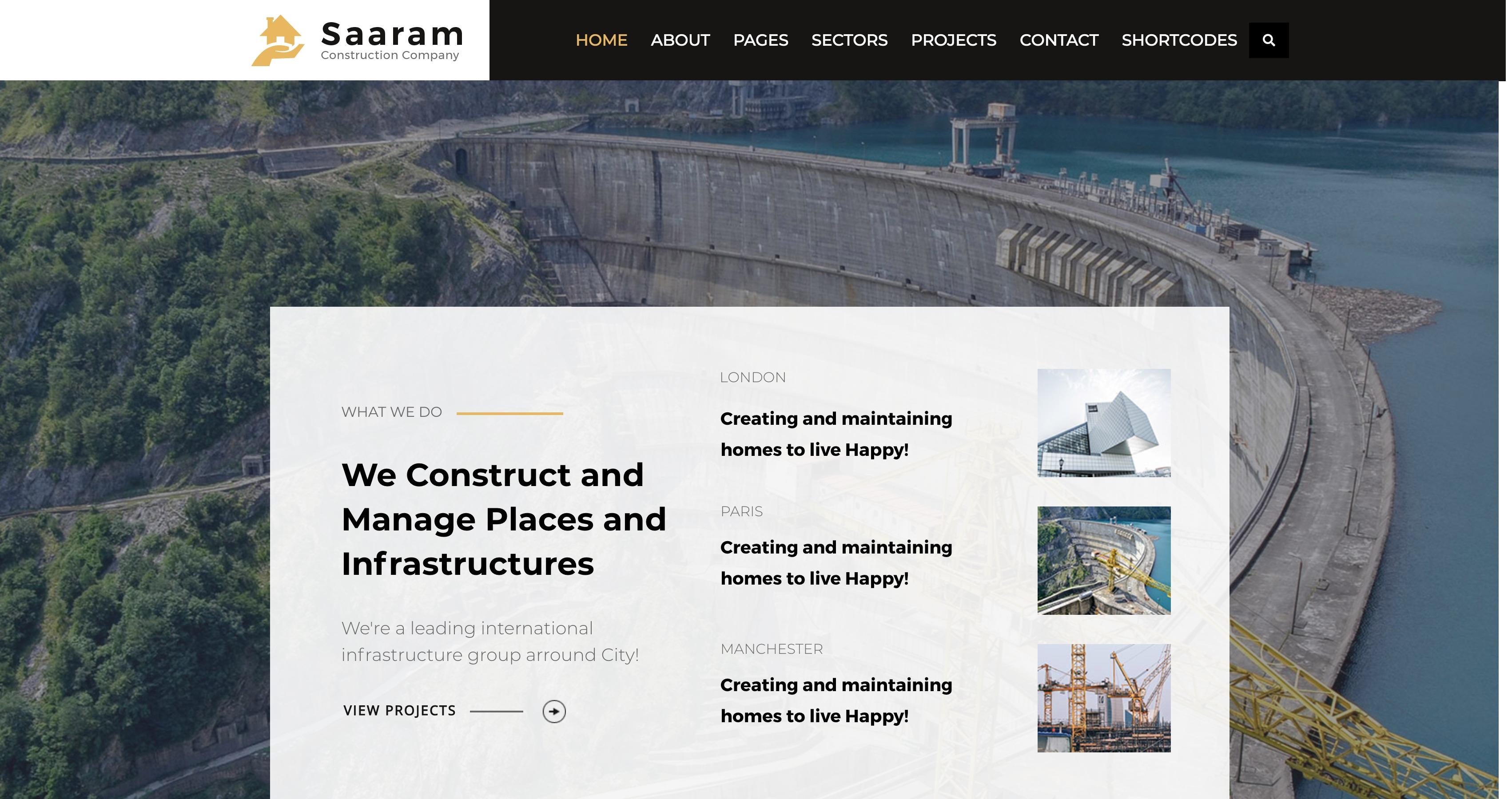 Saaram-建筑工程室内装修WordPress主题