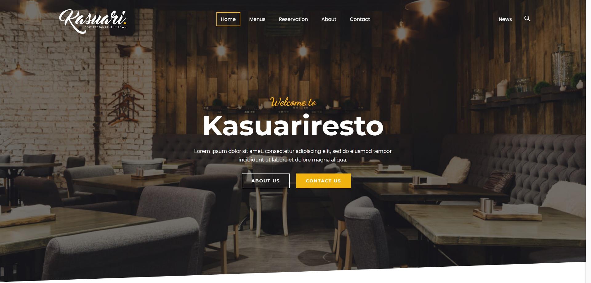 Kasuari-餐饮餐厅快餐咖啡厅WordPress主题